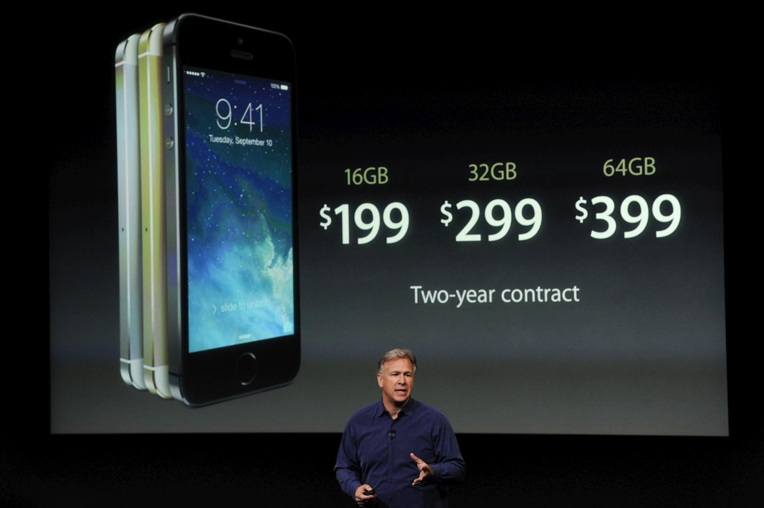 Apple SVP Phil Schiller talks about the iPhone 5s at its September 2013 unveiling.