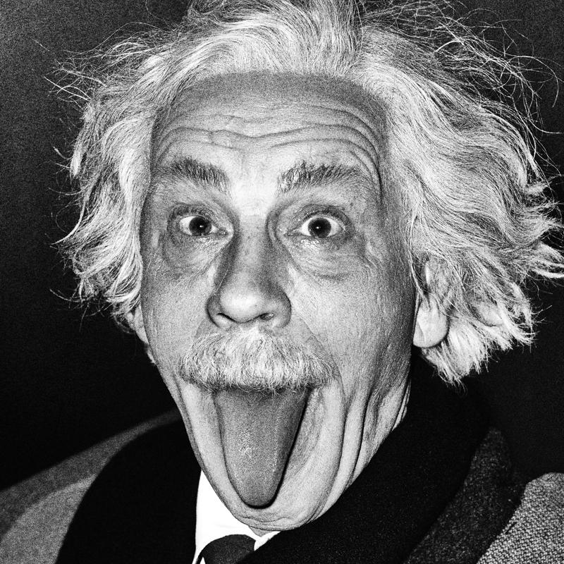 Arthur Sasse / Albert Einstein Sticking Out His Tongue (1951), 2014