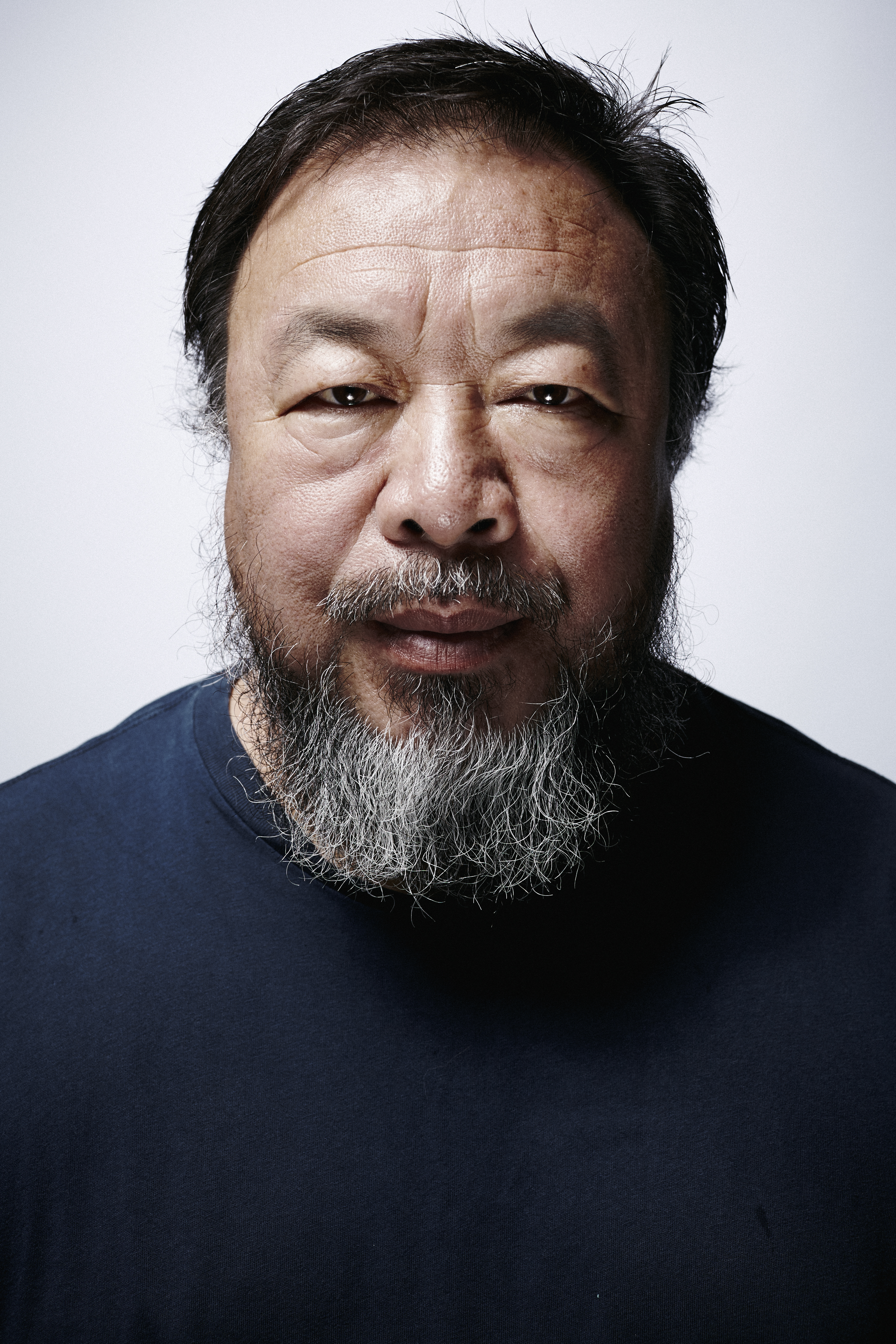 Chinese contemporary artist Ai Weiwei is photographed inside his studio in Beijing on June 16, 2014