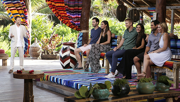 BACHELOR IN PARADISE -  Episode 107  - This week on the surprising season finale of  Bachelor in Paradise,  Chris Harrison returns to give the remaining cast a shocking ultimatum -- if they cannot see their relationship transitioning into their lives back home, they must leave paradise immediately. With emotions running higher than ever, a series of dramatic breakups ensue. After the dust settles, Chris Harrison returns and surprises the remaining couples with romantic overnight dates, on the season finale of  Bachelor in Paradise,  MONDAY, SEPTEMBER 8 (8:00-10:00 p.m. ET/PT), on ABC. (ABC/Francisco Roman)                     CHRIS HARRISON, CHRIS SIEGFRIED, DESIREE HARTSOCK, SEAN LOWE, CATHERINE LOWE, JASON MESNICK, MOLLY MESNICK