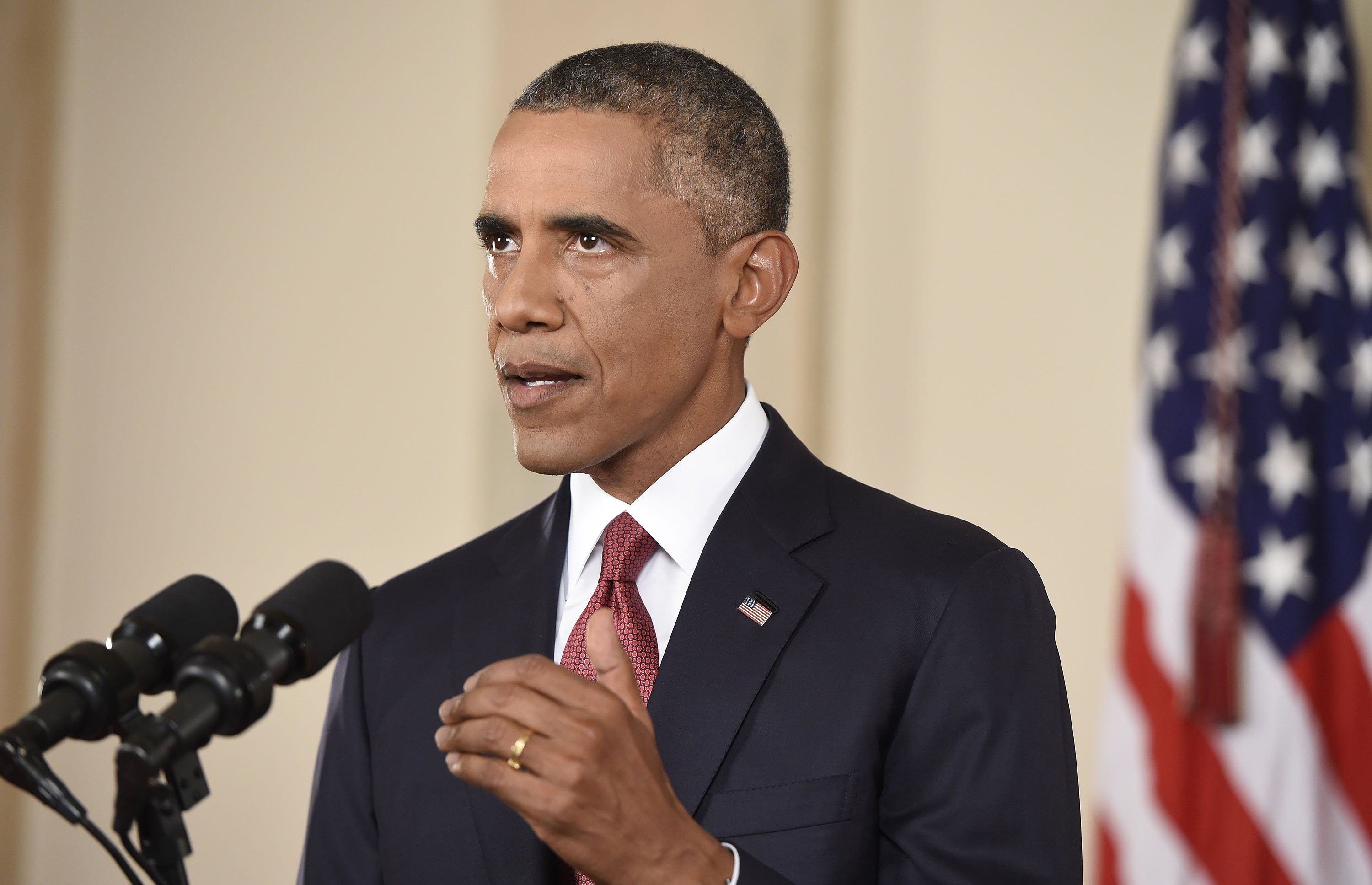 President Barack Obama speaks to the nation on his plan to  degrade and ultimately destroy  ISIS