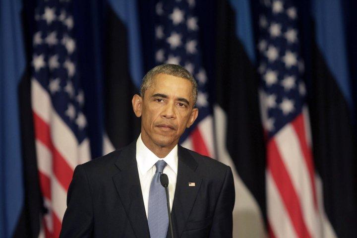 US President Barack Obama in Estonia to discuss security in Baltics