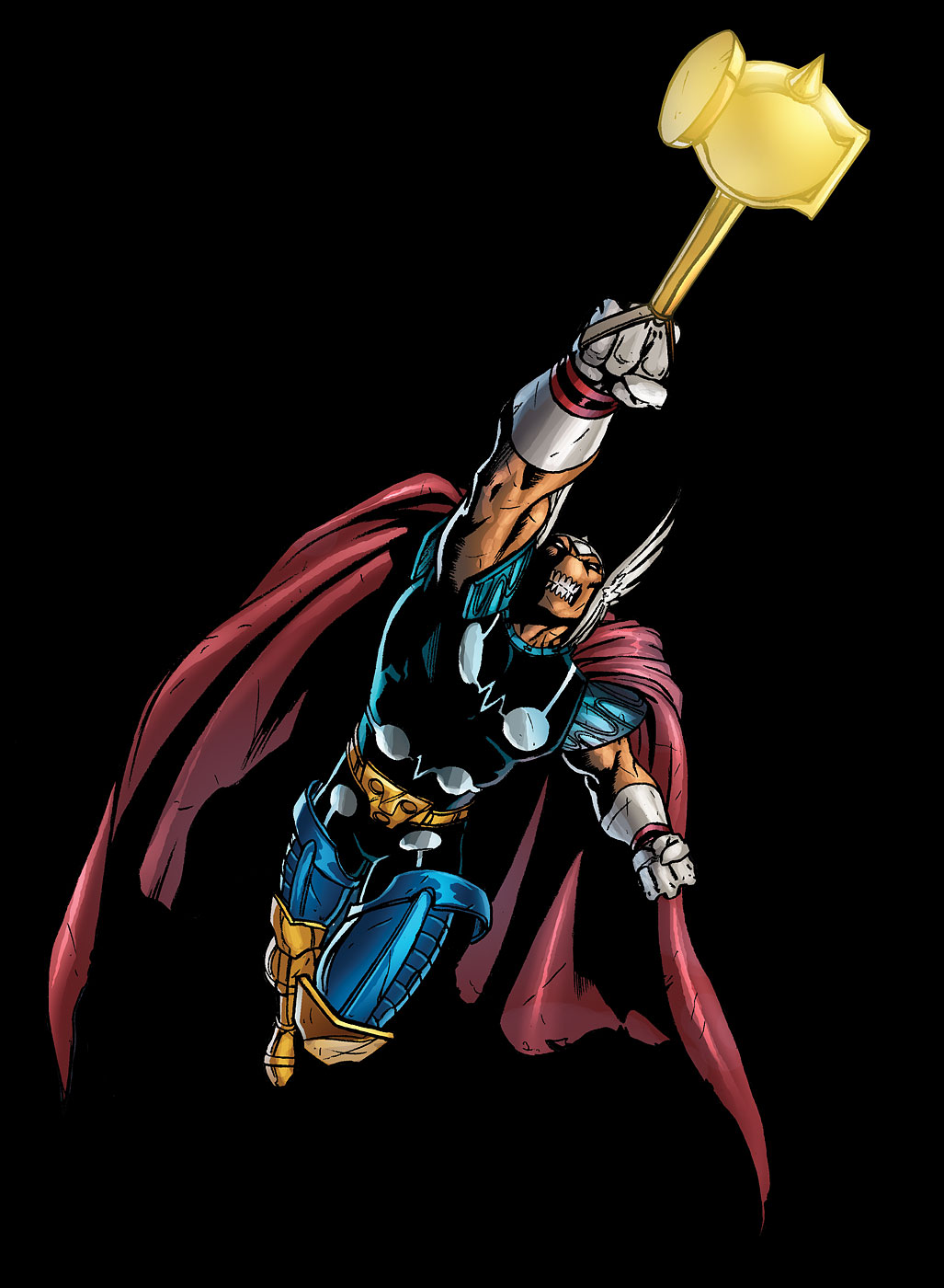 In 1983, Beta Ray Bill, an alien from the Korbonite race was deemed worthy to lift Mjolnir, thus granting him the powers of Thor. He would later return the hammer to the Thunder God and was granted the mystical hammer Stormbreaker by Odin as a reward.