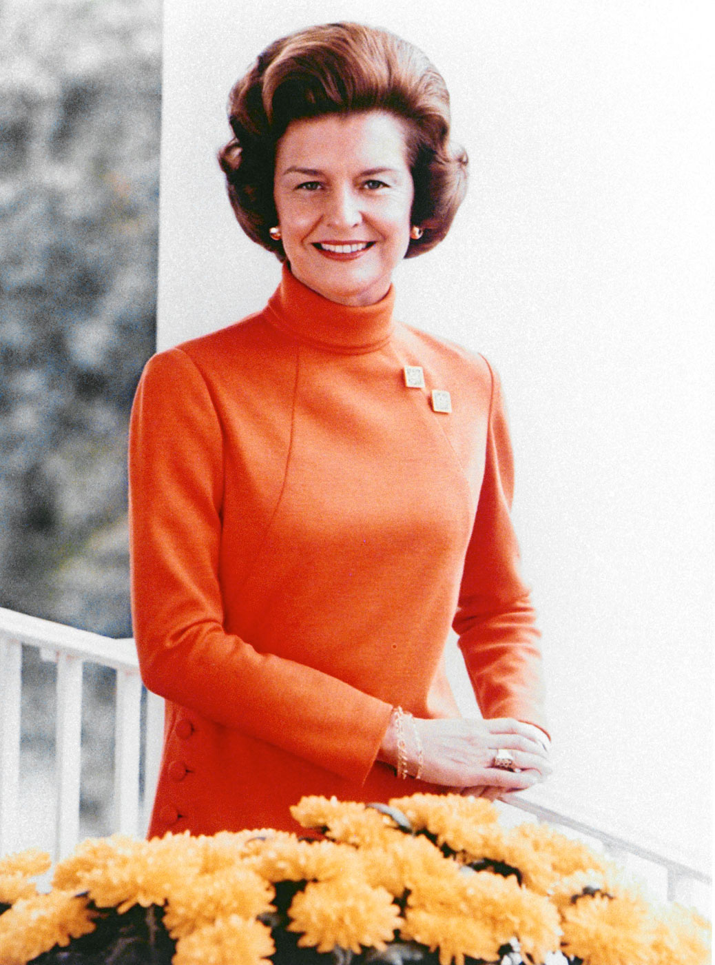 Betty Ford                               First lady, women's-rights activist, and patient advocate                               Diagnosed with cancer breast cancer in 1974; died of natural causes at age 93 in 2011