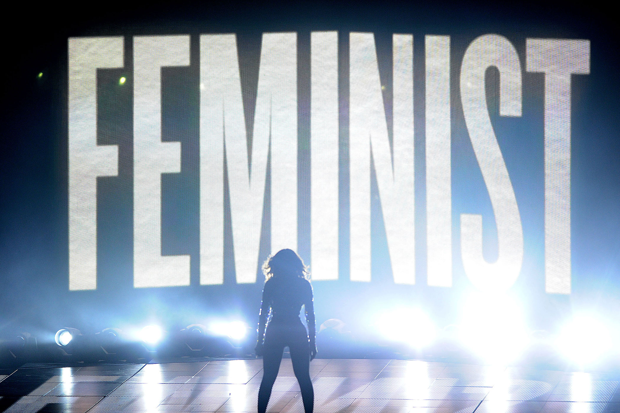 Beyonce performs onstage at the 2014 MTV Video Music Awards at The Forum on August 24, 2014 in Inglewood, California.