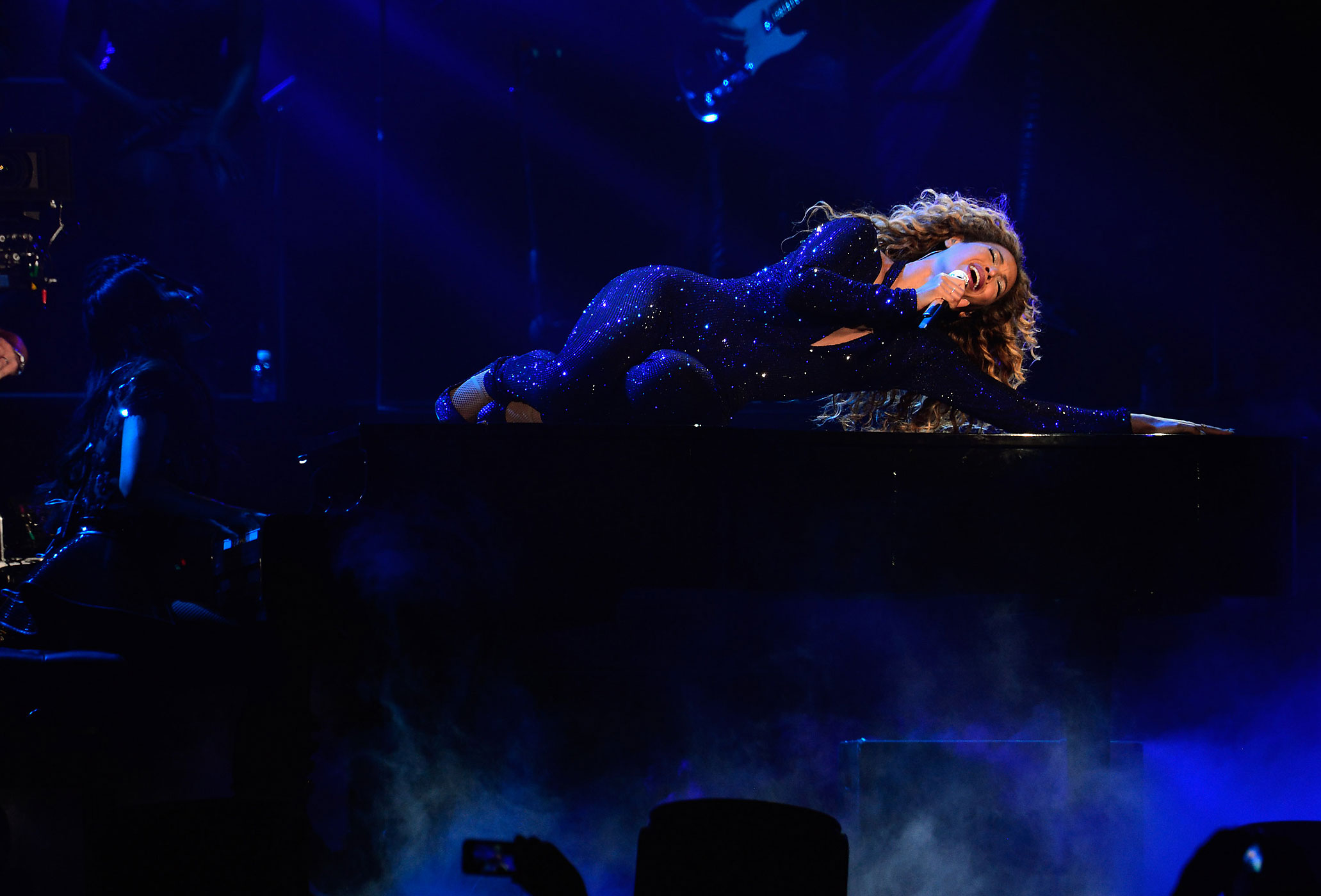 "Beyonce performs on stage during ""The Mrs. Carter Show World Tour"" at the Barclays Center on August 3, 2013 in New York, New York."