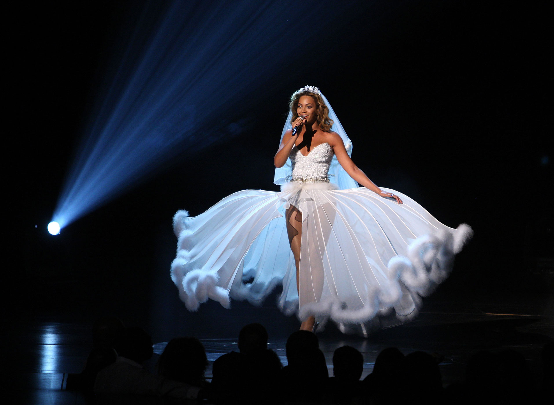 Beyonce onstage at the 2009 BET Awards at the Shrine Auditorium on June 28, 2009 in Los Angeles, California.