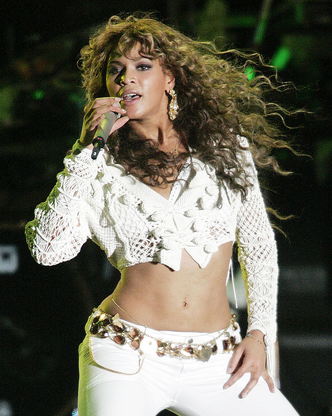 Beyonce performs during Rockin' the Corps Concert at Camp Pendelton in San Diego, California.