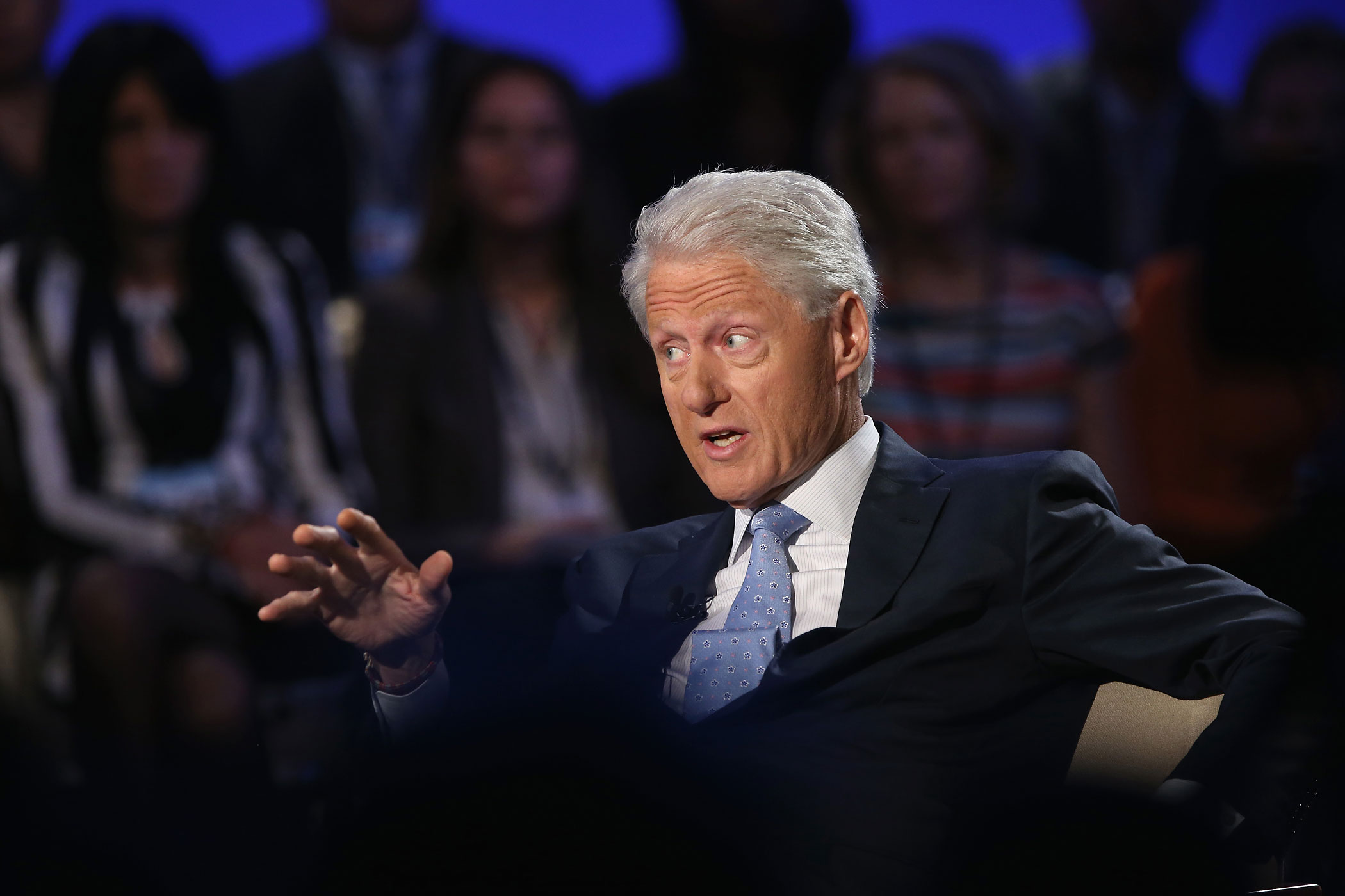 Former President Bill Clinton speaks during a breakout session at the Clinton Global Initiative , on September 23, 2014 in New York City.
