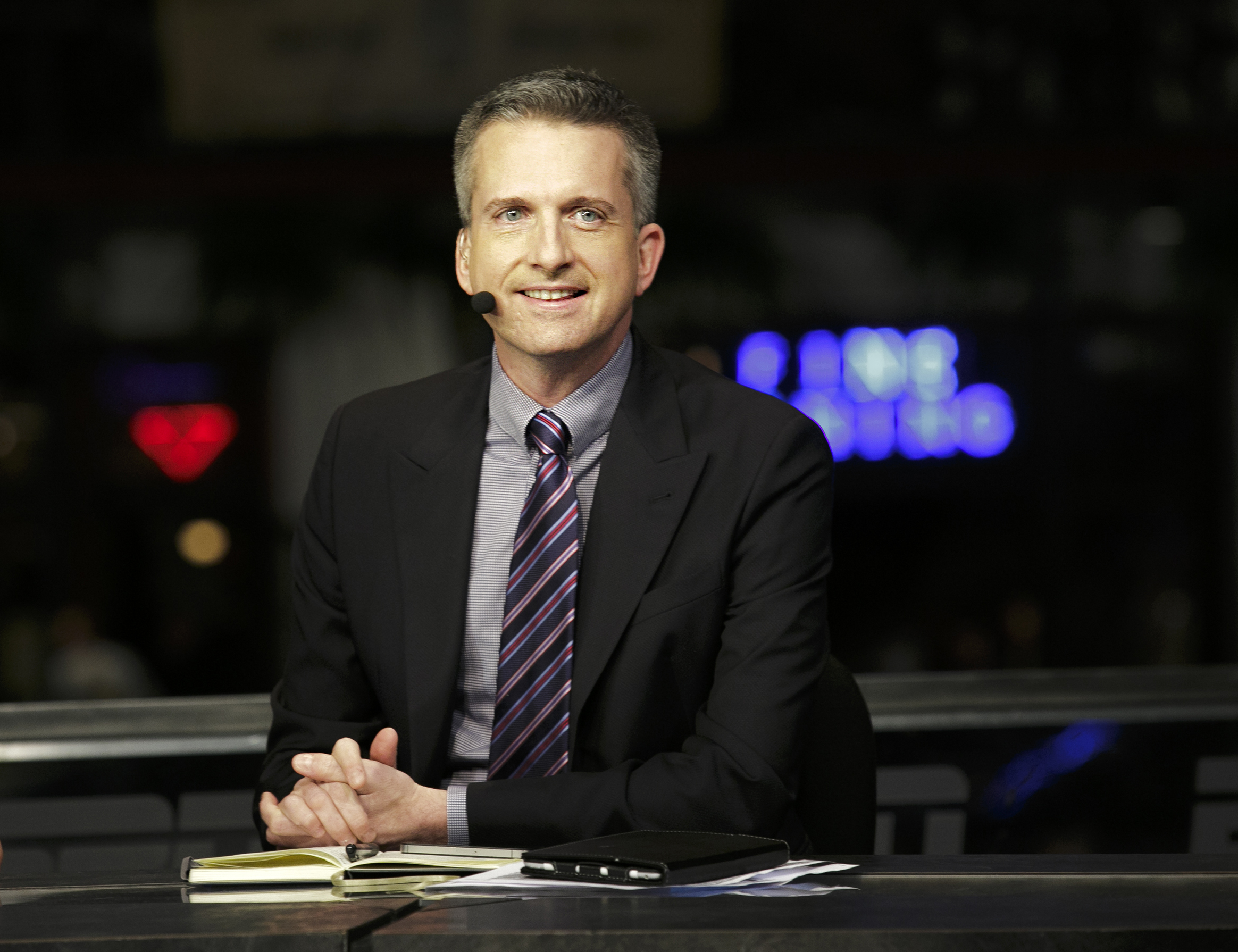 Bill Simmons on the set of NBA Countdown in New Orleans on Jan. 30, 2013.
