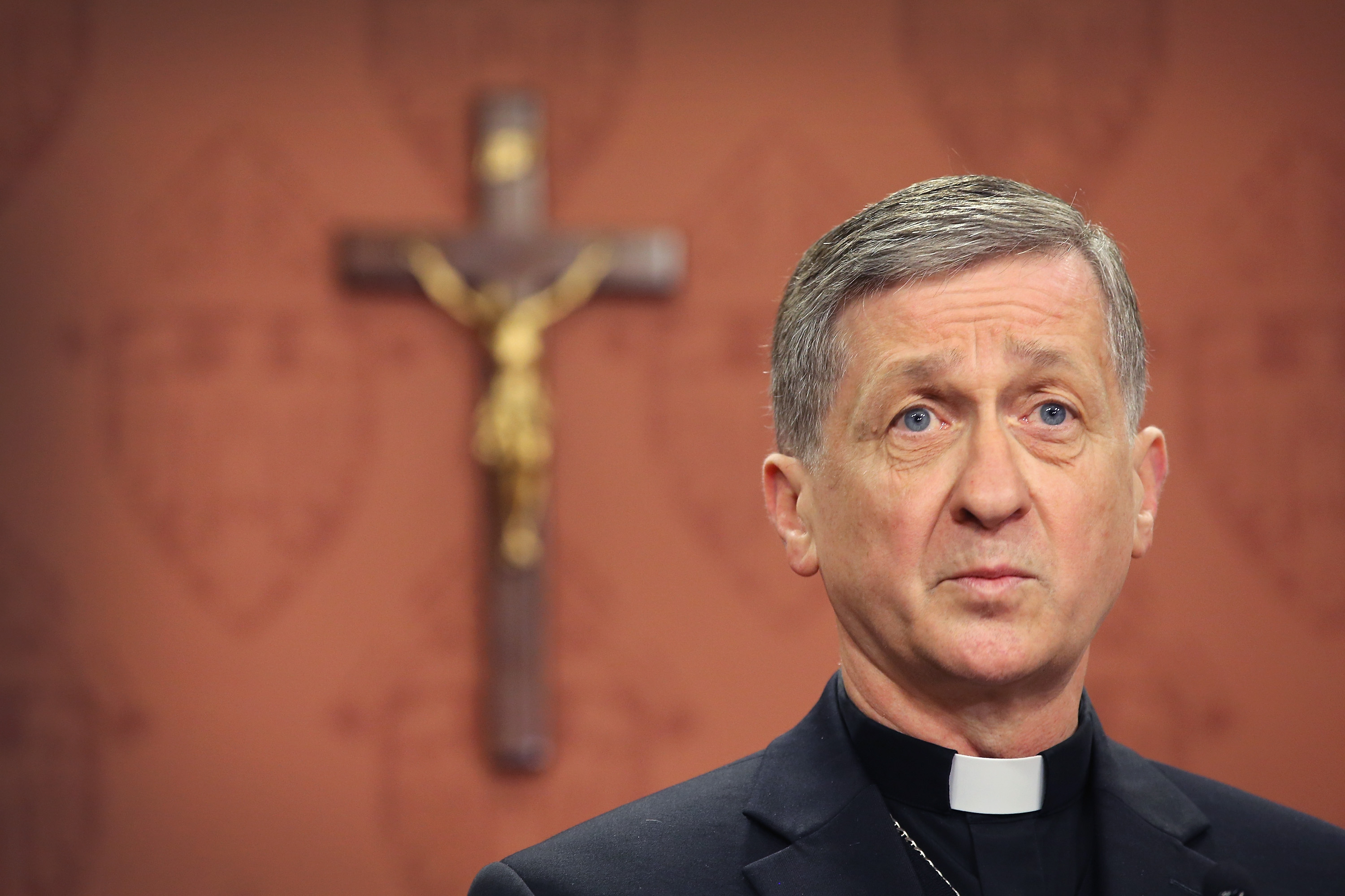 Archbishop-Elect Blase Cupich speaks to the press on September 20, 2014 in Chicago, Illinois. Cupich, who served as bishop in Spokane, Washington, will succeed Chicago's Francis Cardinal George, who has been fighting a long battle with cancer, to become the 9th archbishop of Chicago. This is the first time in the history of the Chicago Archdiocese that a new leader has been appointed while the former is still alive.