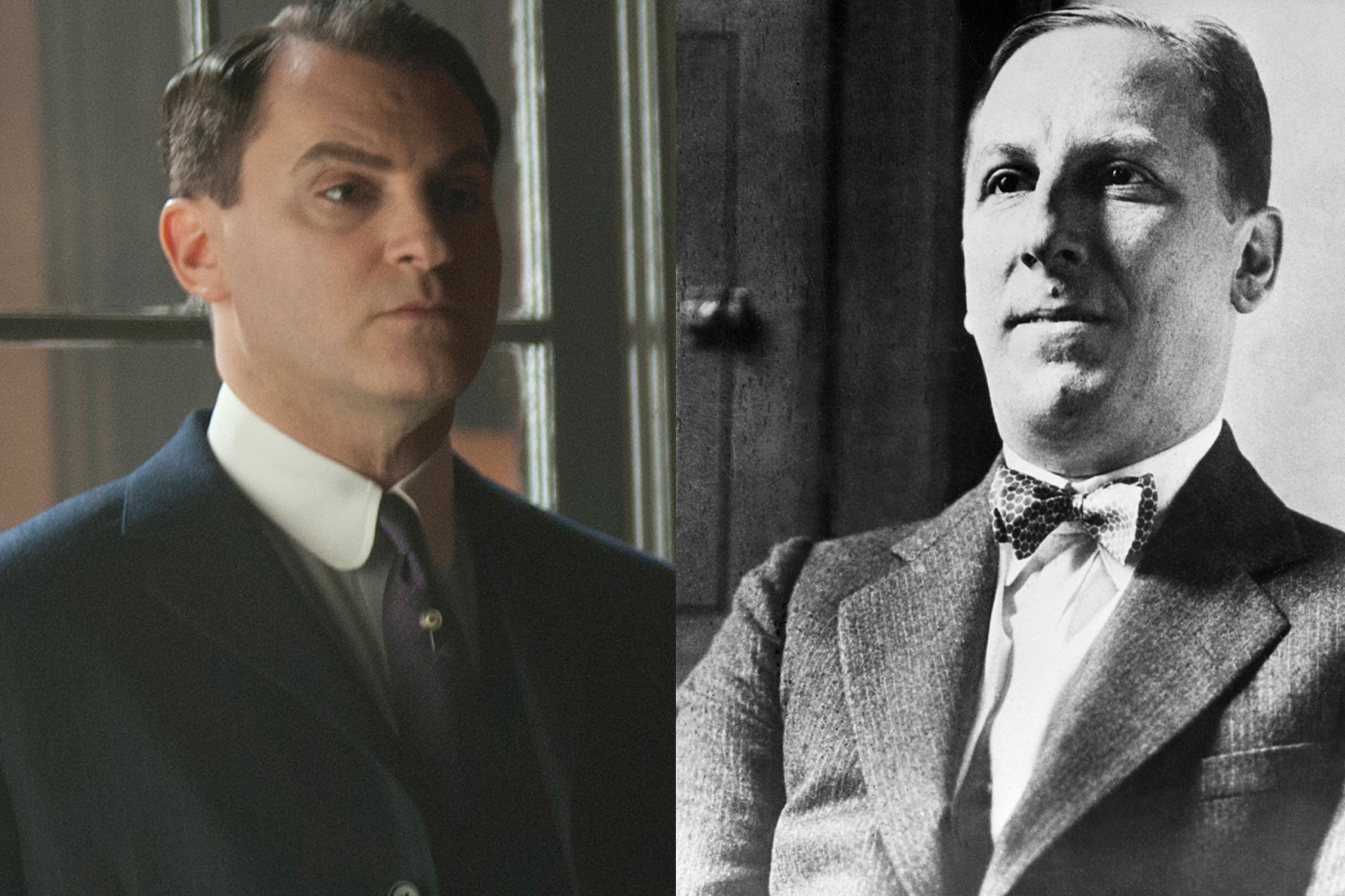 Arnold Rothstein:                               Real-life Arnold Rothstein was a high profile gambler and gangster who famously fixed the 1919 World Series, just like Michael Stuhlbarg's on-screen version.