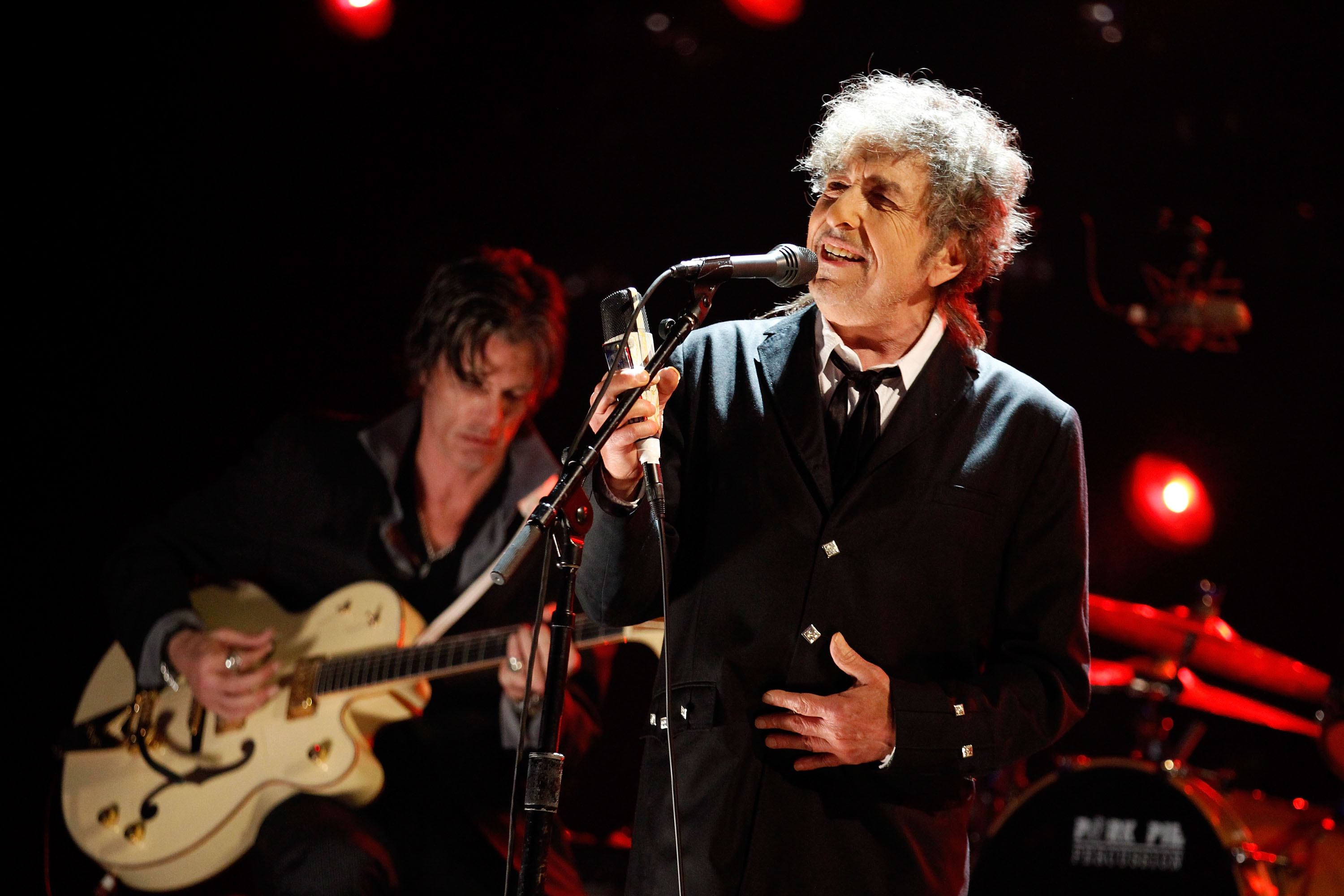 Bob Dylan performs onstage during the 17th Annual Critics' Choice Movie Awards held at The Hollywood Palladium on January 12, 2012 in Los Angeles, California.