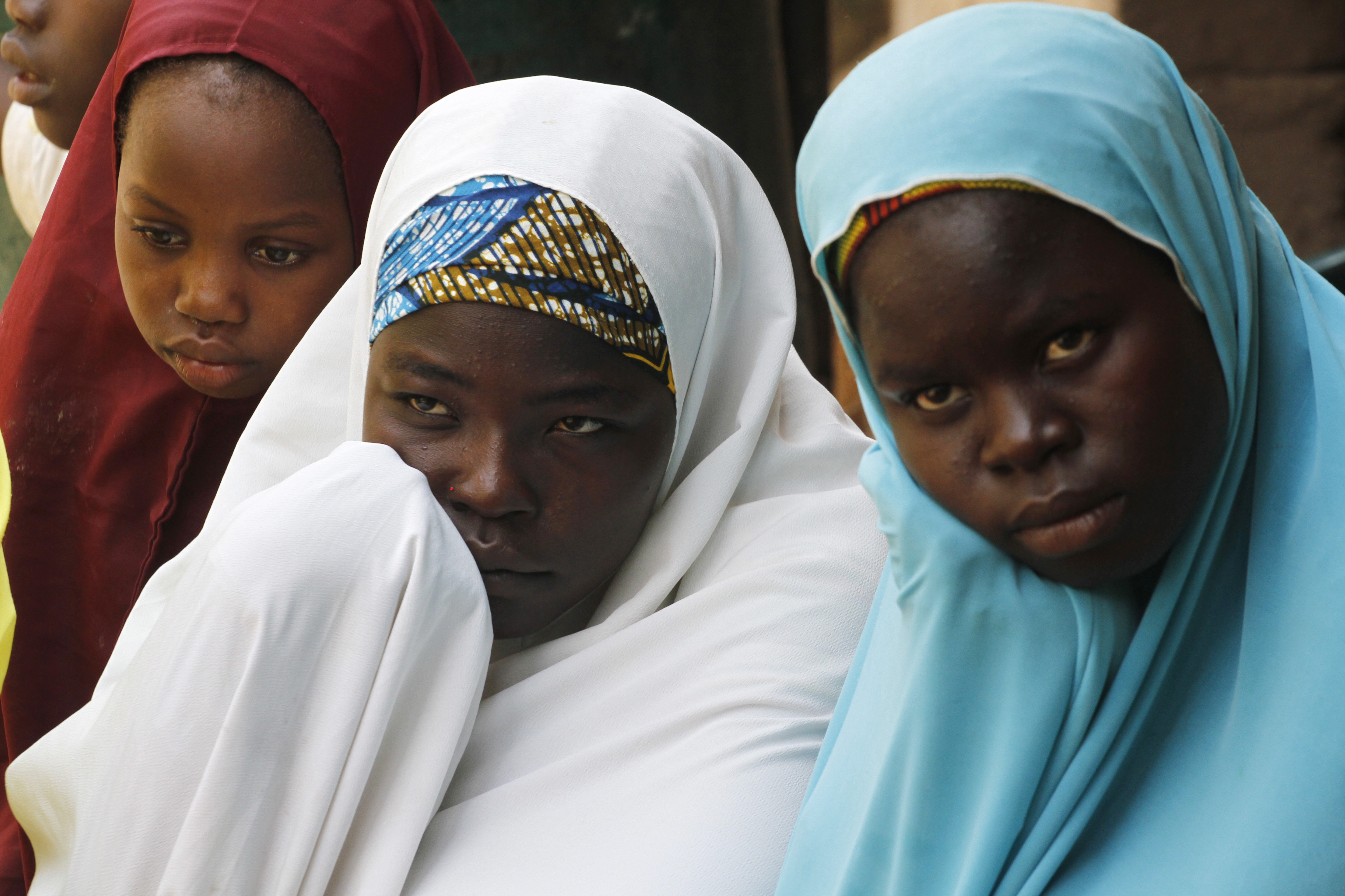 Internally displaced persons, who are victims of Boko Haram attacks, stay at the IDP camp for those fleeing violence from Boko Haram insurgents at Wurojuli, Gombe State Sept. 2, 2014.