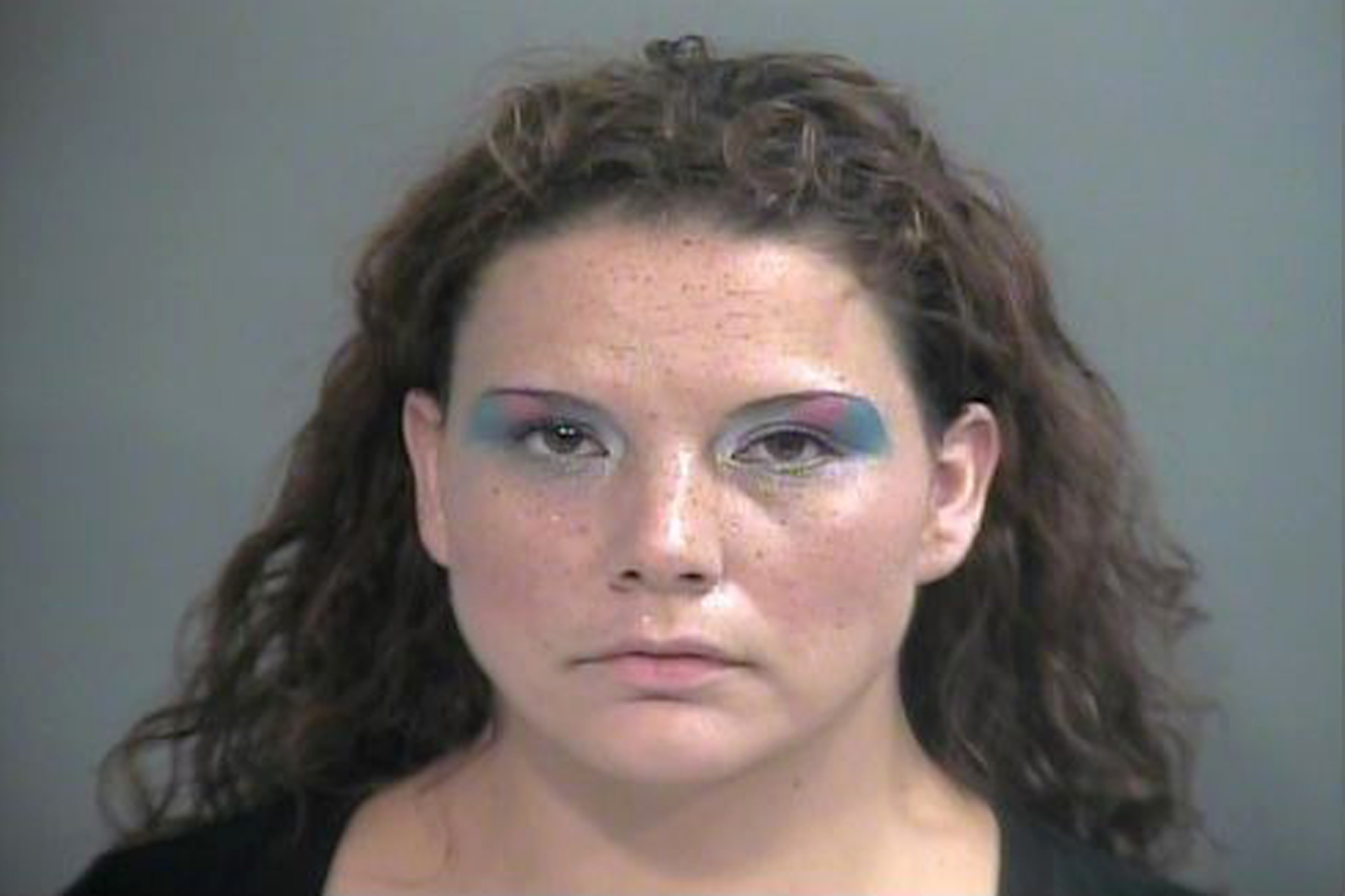 This Wednesday, Sept. 1, 2014 police booking photo provided by Washington County Sheriff's Office shows shoplifting suspect Brandy Allen in Fayetteville, Ark.