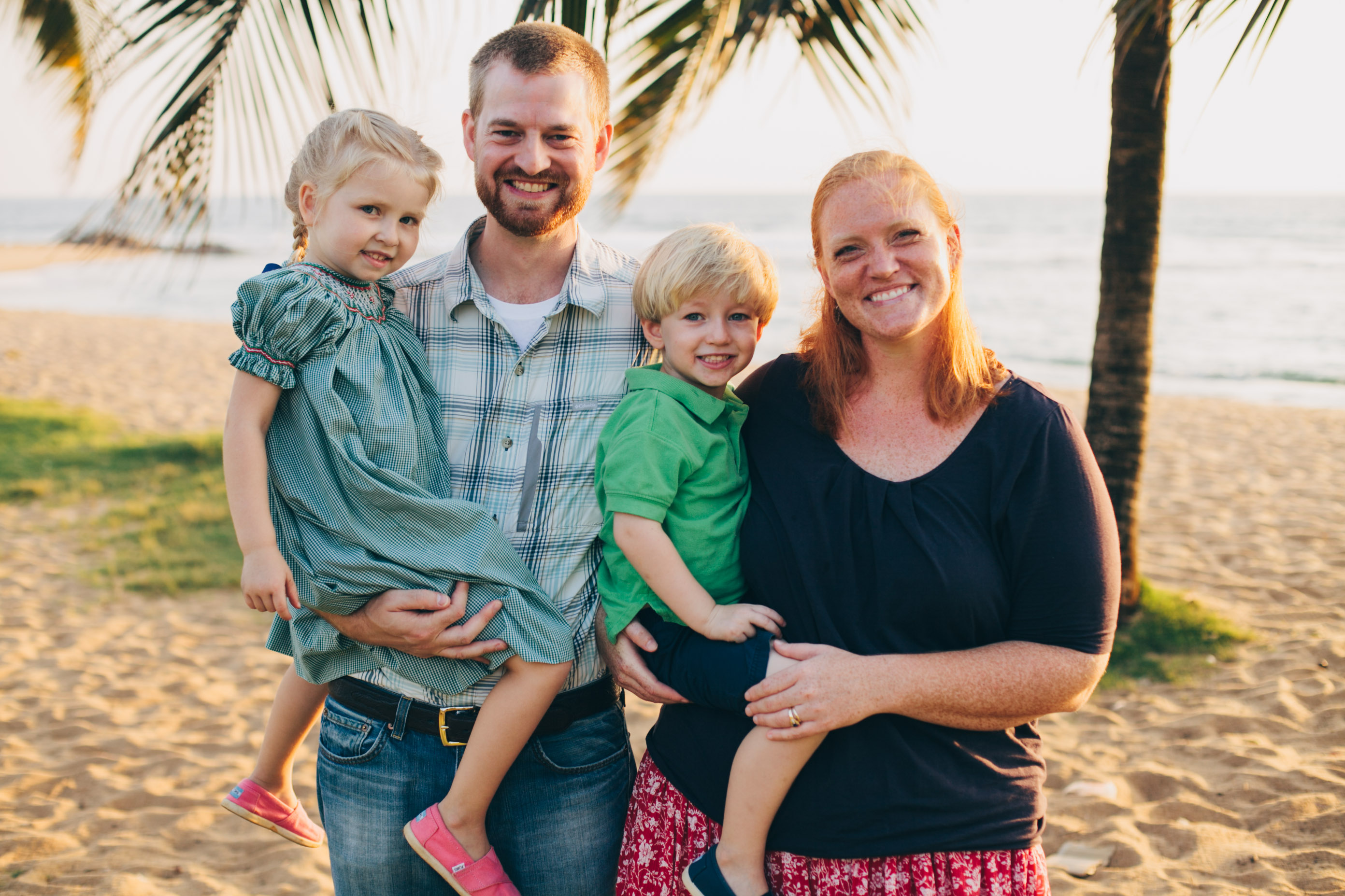 Dr. Kent Brantly and his wife Amber and their children in Liberia before Dr. Brantly was infected with Ebola