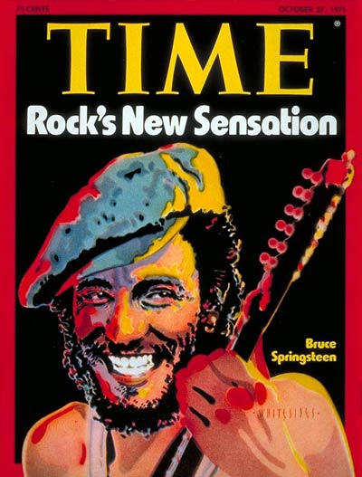 """1975:                                Born to Run was released on August 25th and became Springsteen's first real commercial success, climbing to #3 on the Billboard charts. The album's promotional campaign was built around critic and producer Jon Landau's now-infamous quote,"""" I saw rock and roll future and its name is Bruce Springsteen."""" During the promotional push, Springsteen appeared simultaneously on the covers of Time and Newsweek."""