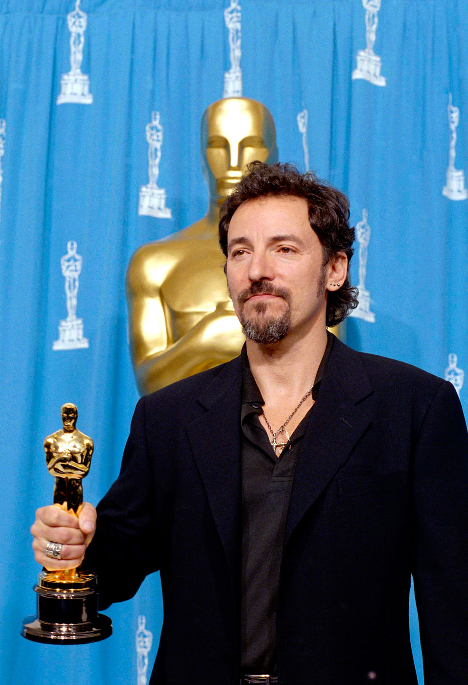 """1994:                                Springsteen won an Oscar for Best Song for the track,  Streets of Philadelphia  from the movie Philadelphia, beating out Neil Young's """"Philadelphia,"""" which was also written for the movie. With this win, the Boss is halfway to an EGOT."""