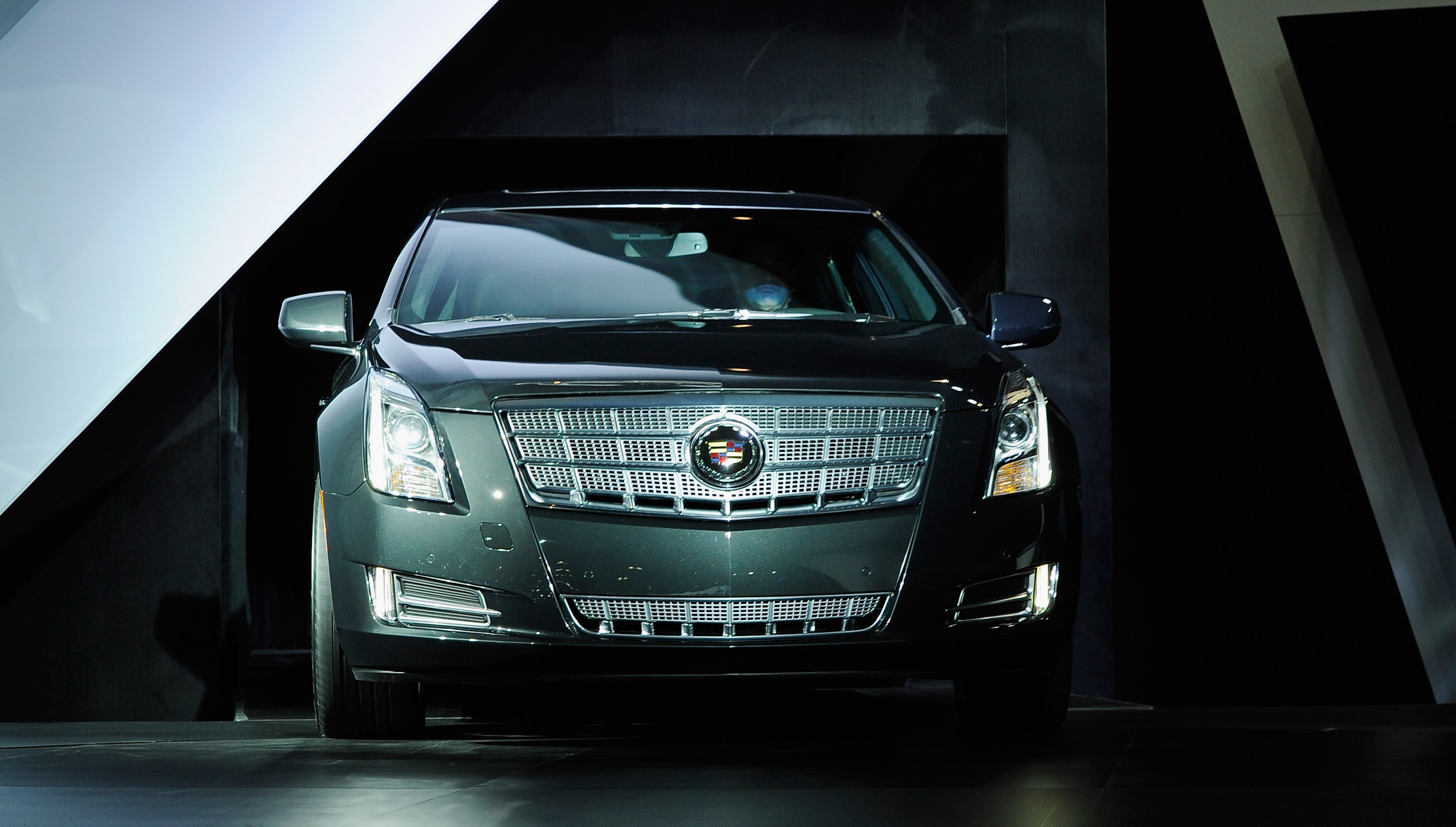 The Cadillac 2013 XTS is unveiled during the LA Auto Show on November 16, 2011 in Los Angeles.