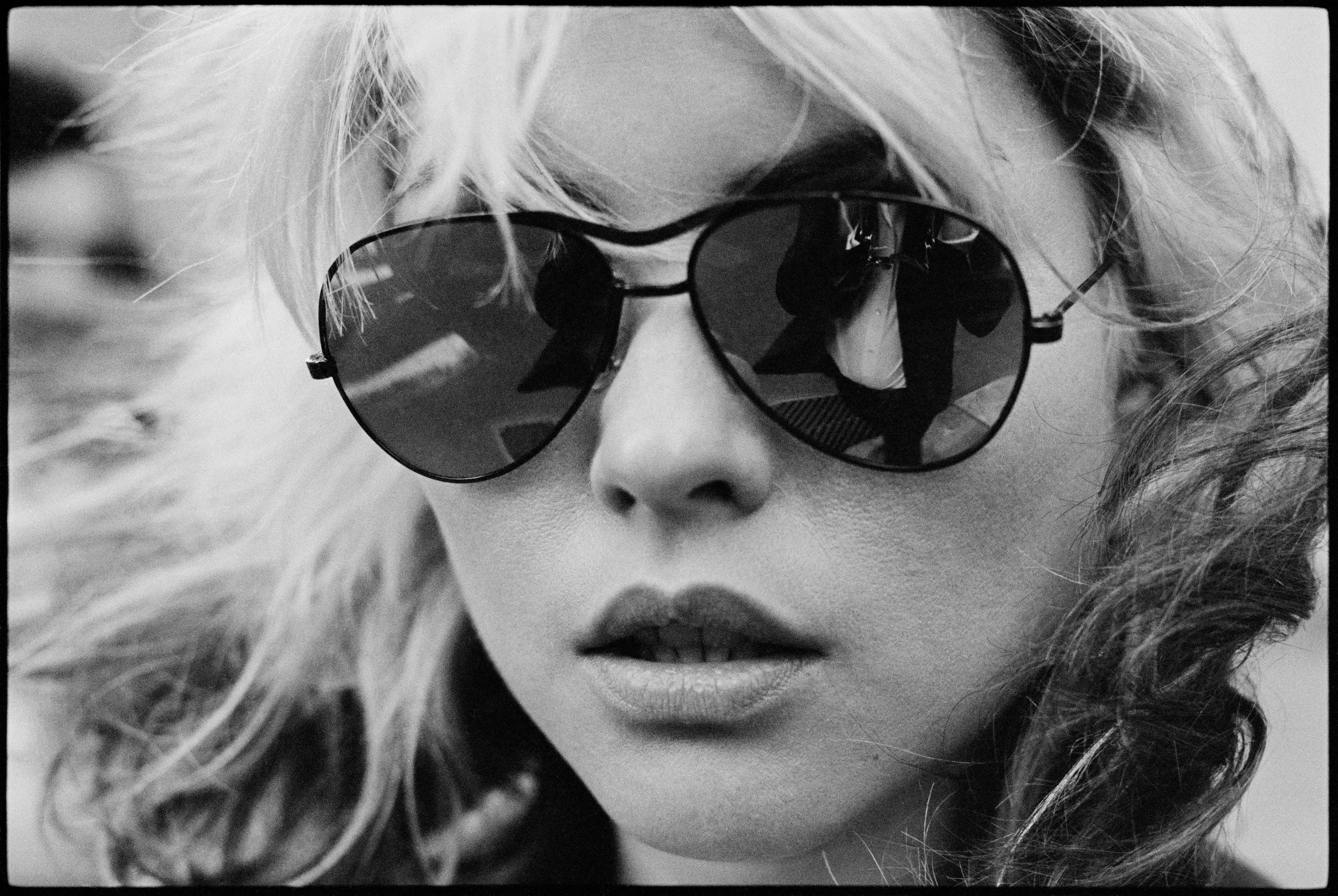 DEBBIE HARRY LEAD SINGER OF BLONDIE YOUNG IN STRIPED HALTER TOP PUBLICITY PHOTO