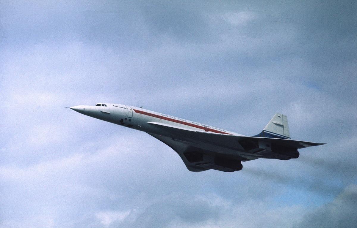 Concorde in flight, circa 1976