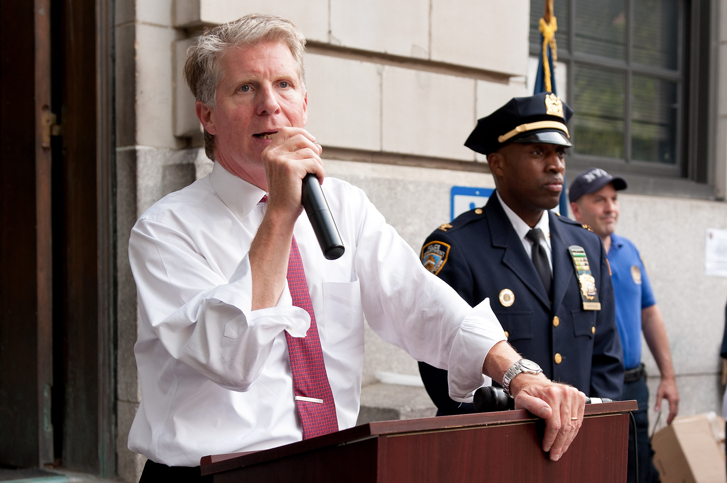Manhattan District Attorney Cyrus R. Vance, Jr. attends National Night Out on the streets of Manhattan on August 7, 2012 in New York City.