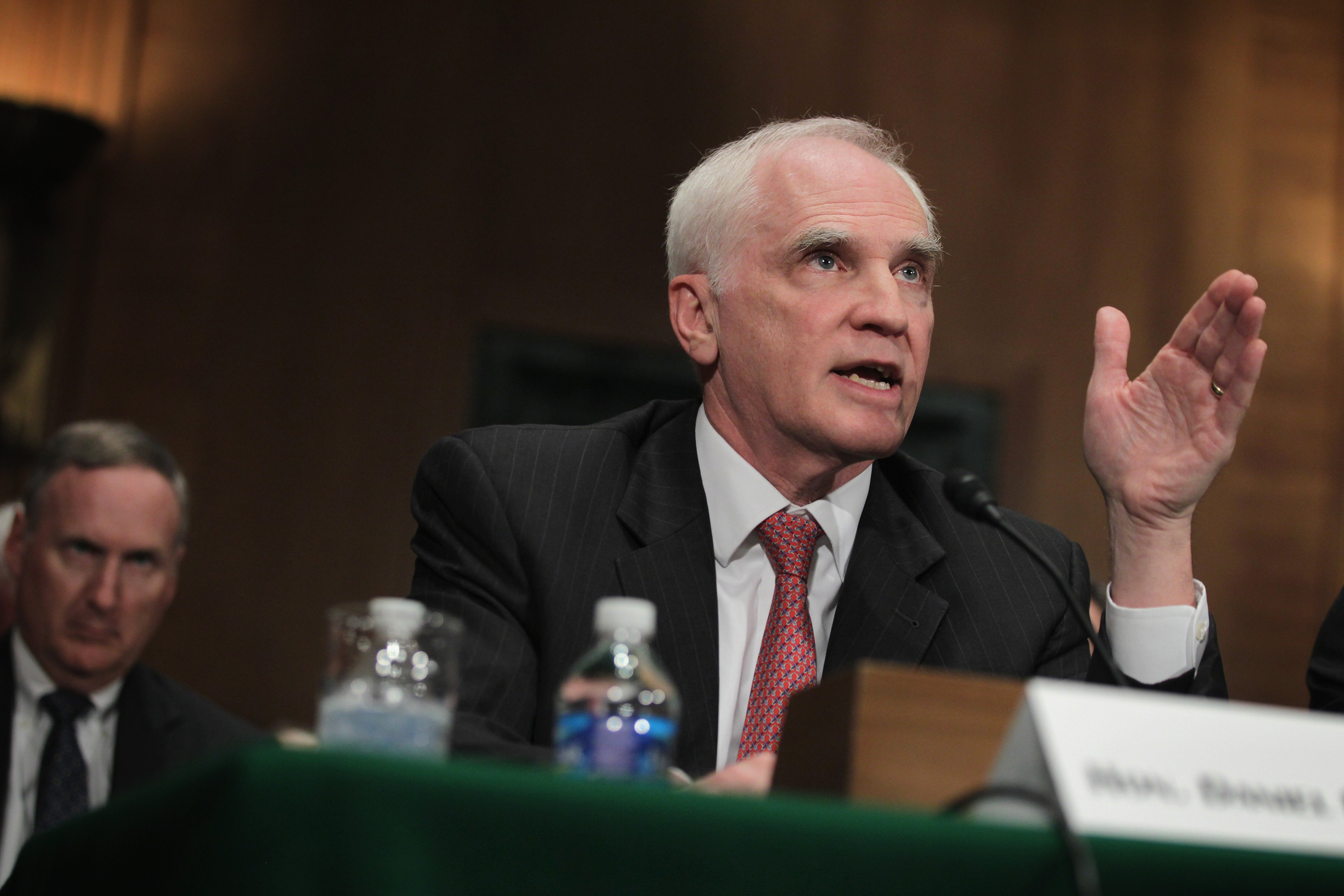 Federal Reserve Board of Governors member Daniel Tarullo testifies during a hearing before Senate Banking, Housing and Urban Affairs Committeeon Sept. 9, 2014 on Capitol Hill in Washington, DC.
