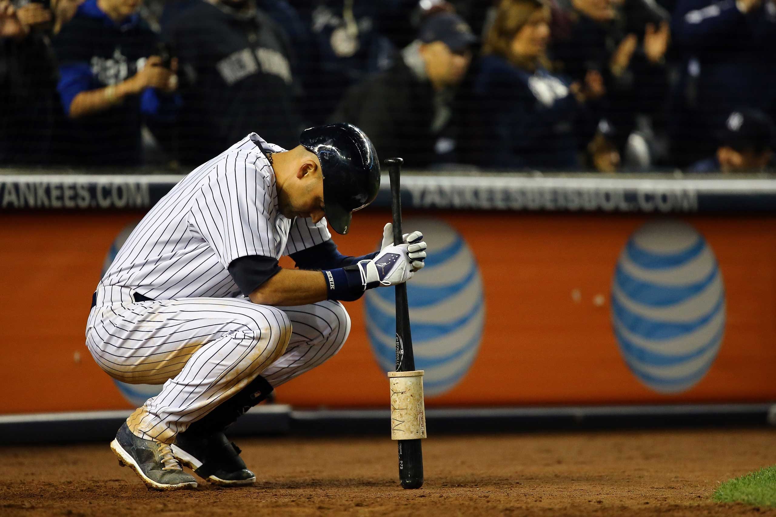 Derek Jeter looks on against the Baltimore Orioles during a game at Yankee Stadium on Sept. 25, 2014.