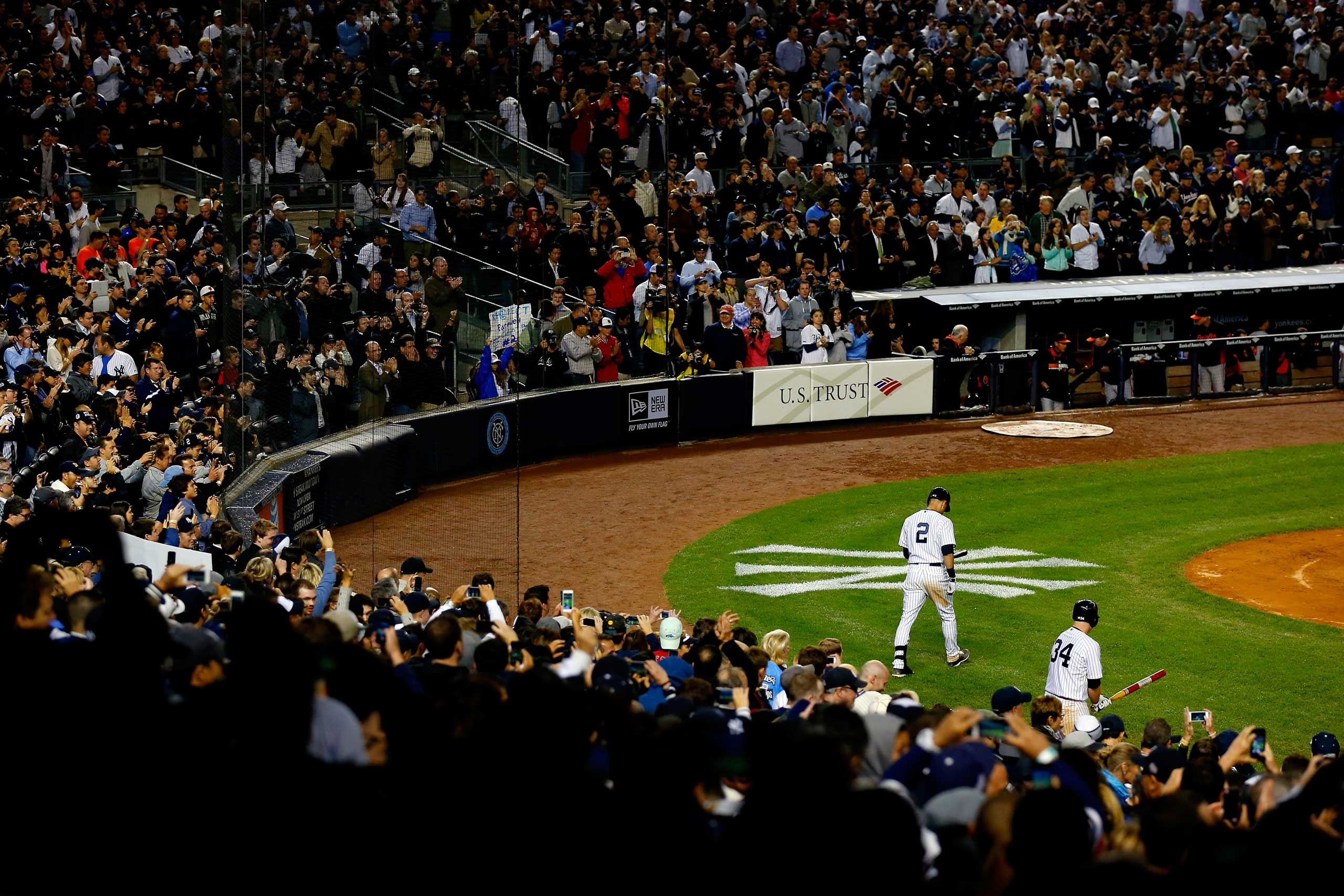 Derek Jeter walks to the plate against the Baltimore Orioles during a game at Yankee Stadium on Sept. 25, 2014.