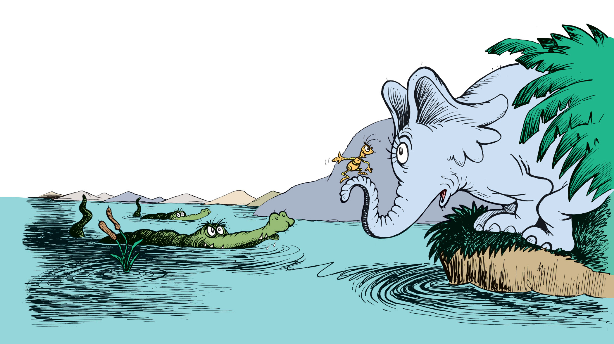Horton and the Kwuggerbug in an illustration from Horton and the Kwuggerbug and More Lost Stories by Dr. Seuss