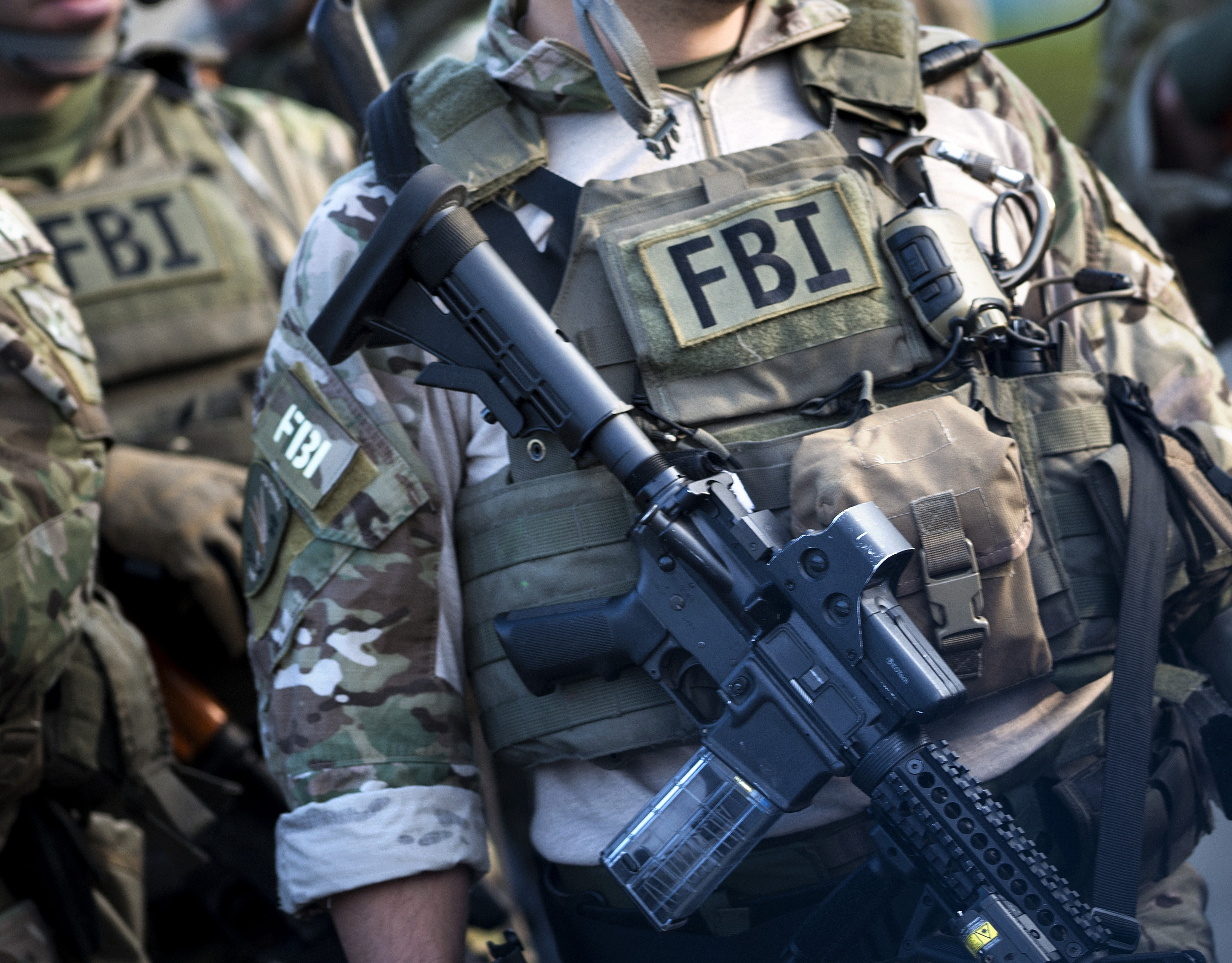 Members of an FBI SWAT team are seen during a training exercise in Alexandria, Va., on May 2, 2014