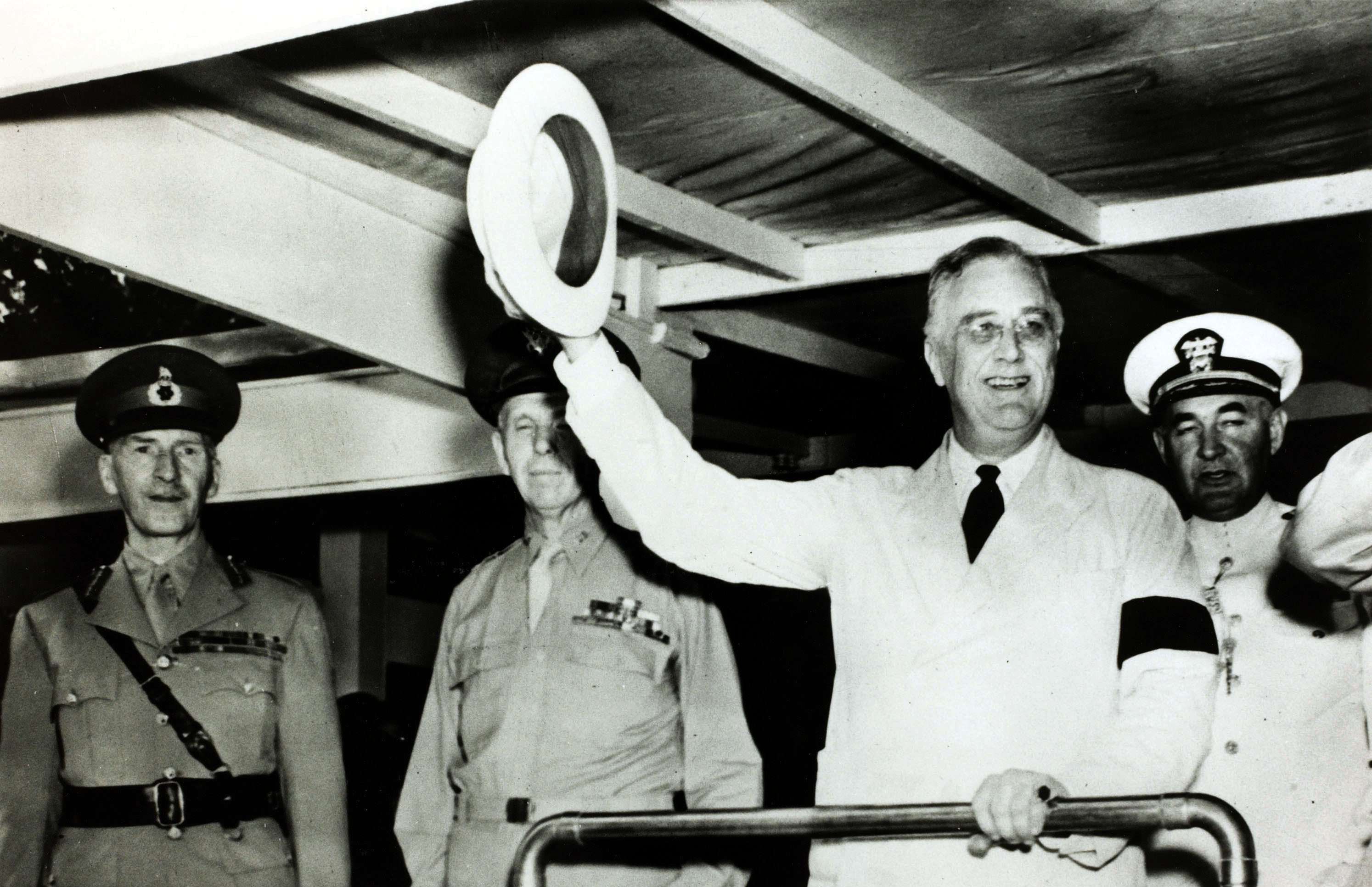 Grand illusion: Leg braces and a vise-like grip helped FDR look more able-bodied than he was