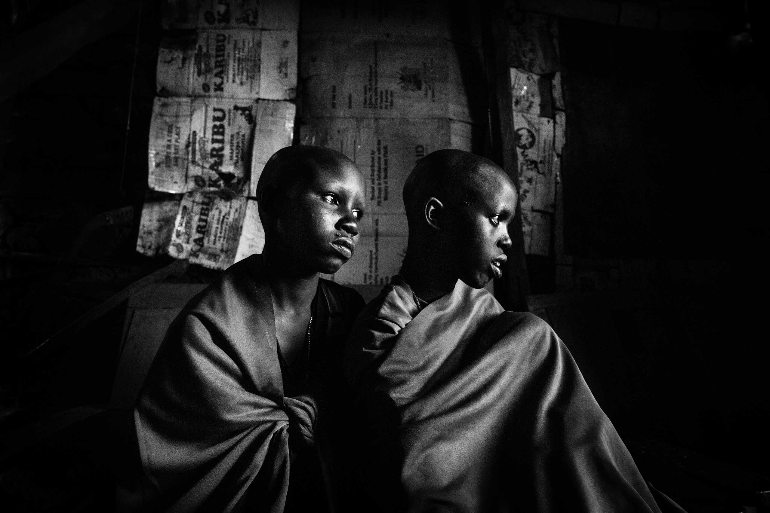 Maasai girls Isina and Nasirian, a day before their planned circumcision. The girls' names have been changed in this piece.