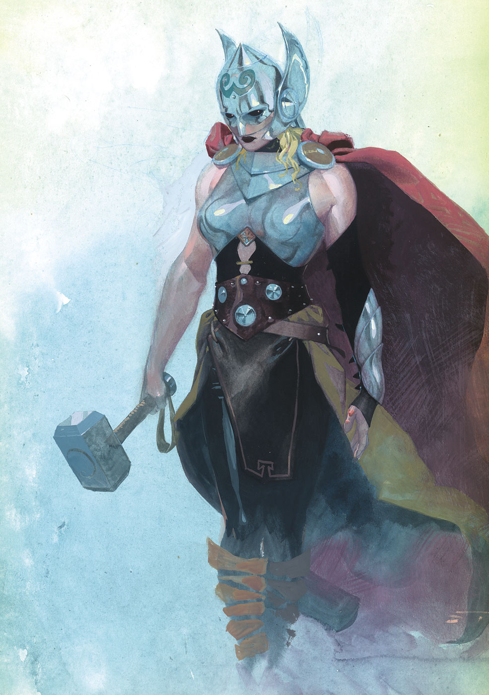 On October 1, for the first time ever, a woman shall be deemed worthy to wield the hammer Mjolnir and possess the powers of Thor.