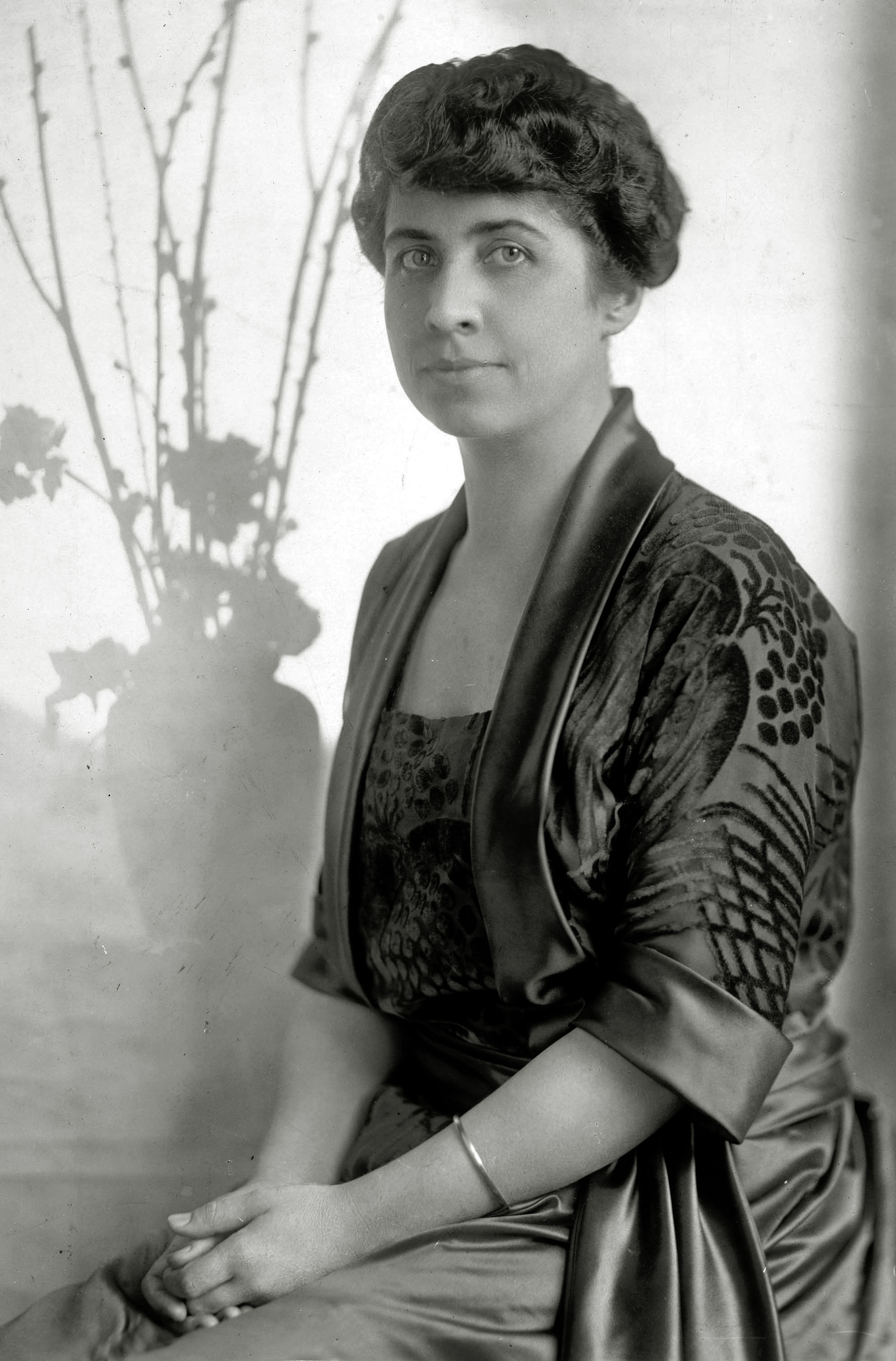 Mrs. Grace Coolidge, the First Lady to Calvin Coolidge, in 1925.