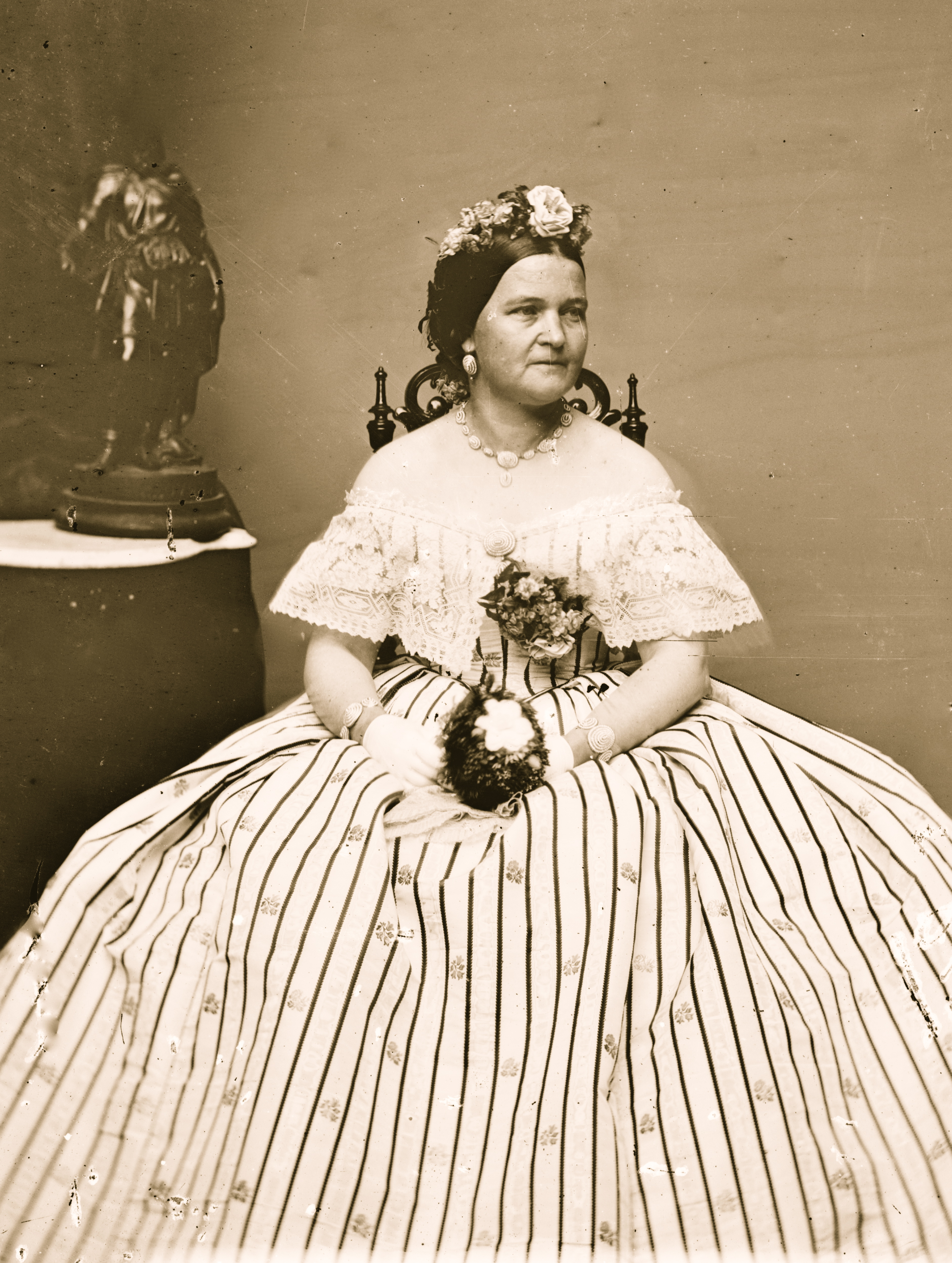 Mrs. Mary Todd Lincoln, wife of Abraham Lincoln, in 1863.
