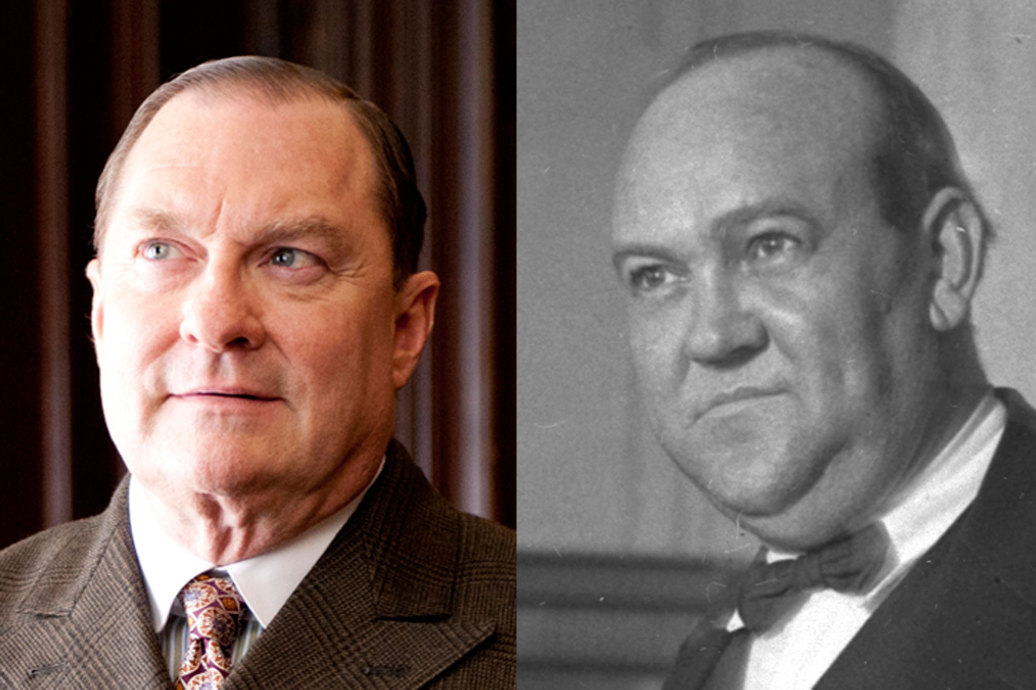 Gaston Means:                               Boardwalk Empire's Gaston Means (played by Stephen Root) may have been ordered to kill associate Jess Smith by Harry Daugherty, but in real life, there is no reason to think this order ever happened. And yet, Means was a skilled con man who was eventually found guilty of grand larceny.