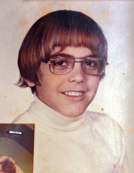 EXCLUSIVE: Oscar-winner 'gorgeous' George Clooney as a geeky-looking teenager