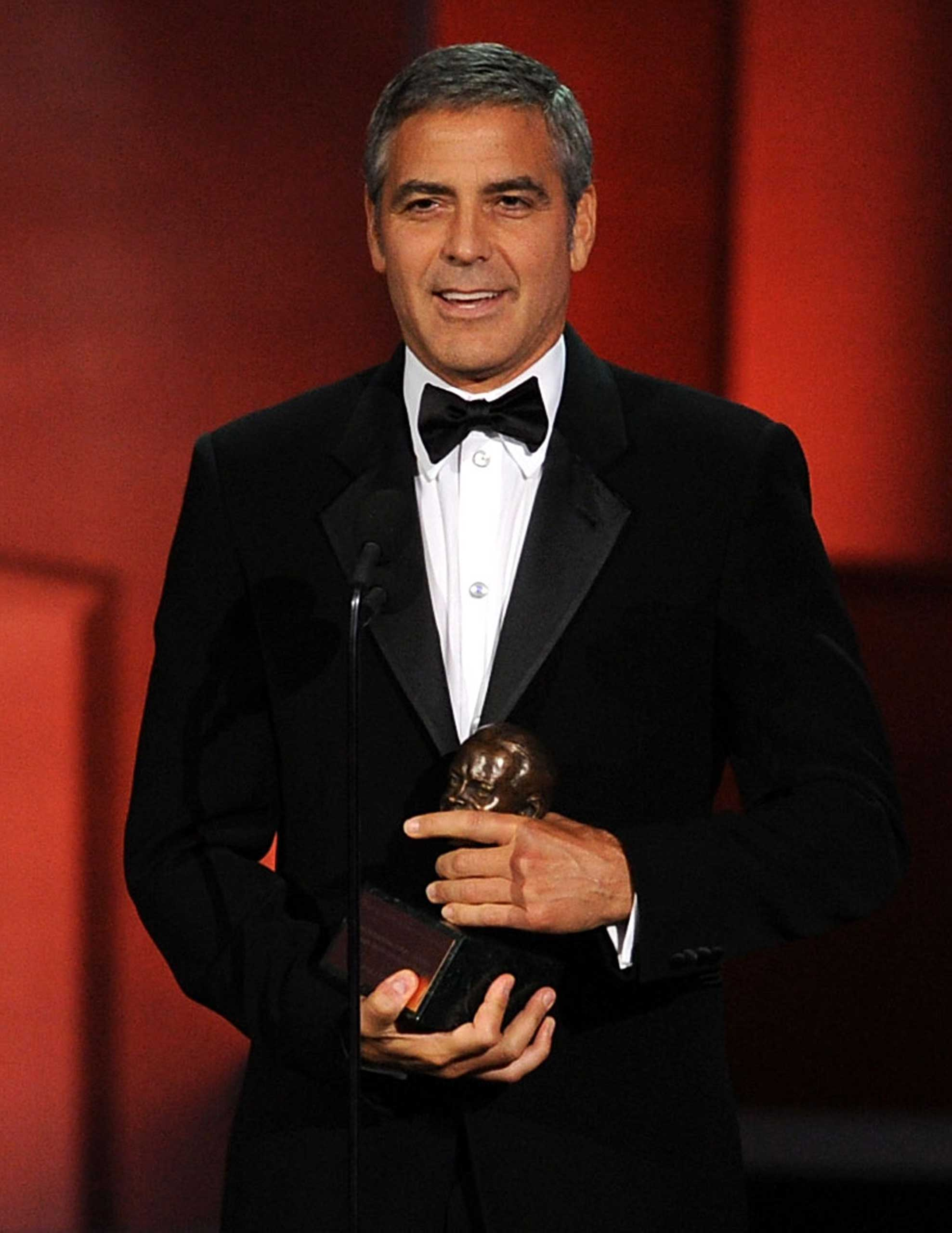 Clooney won the Bob Hope Humanitarian Emmy in 2010 for his work for the victims of the Haitian earthquake.