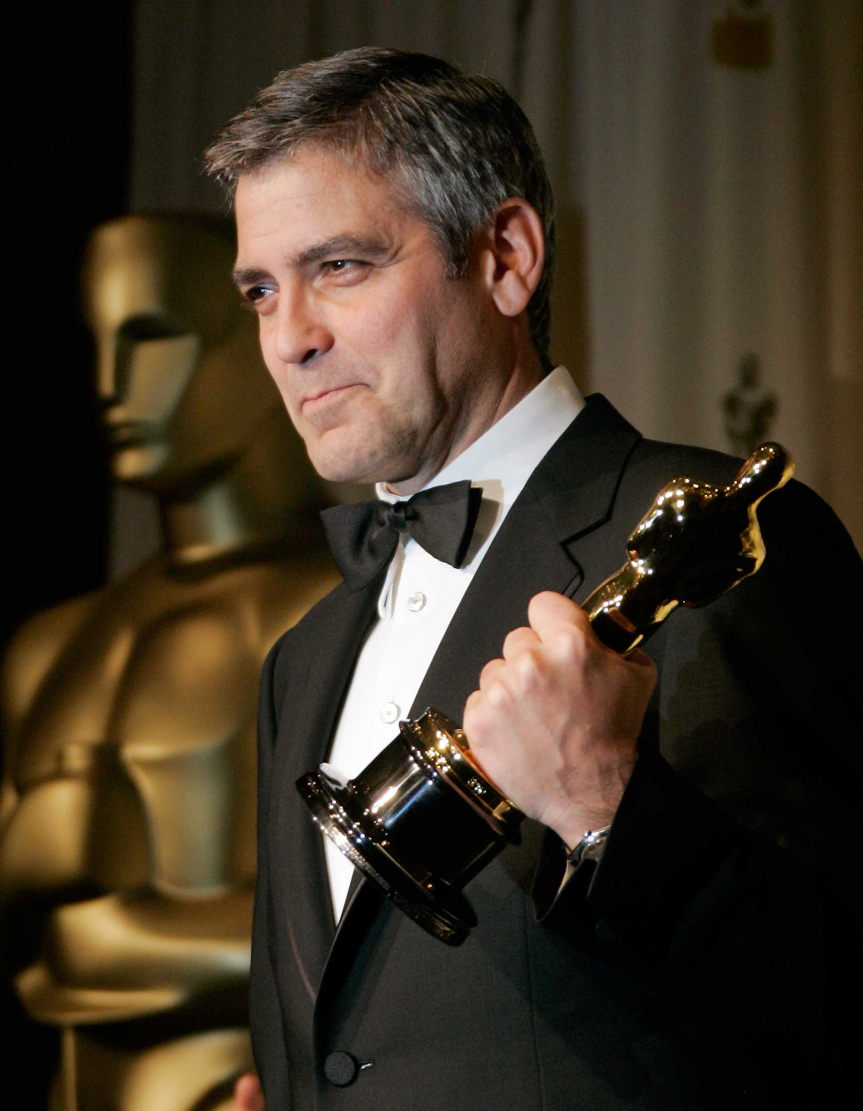 In 2006 Clooney was the first person in Oscars history to be nominated for best director (Good Night and Good Luck) and best actor (Syriana) in different movies in the same year.