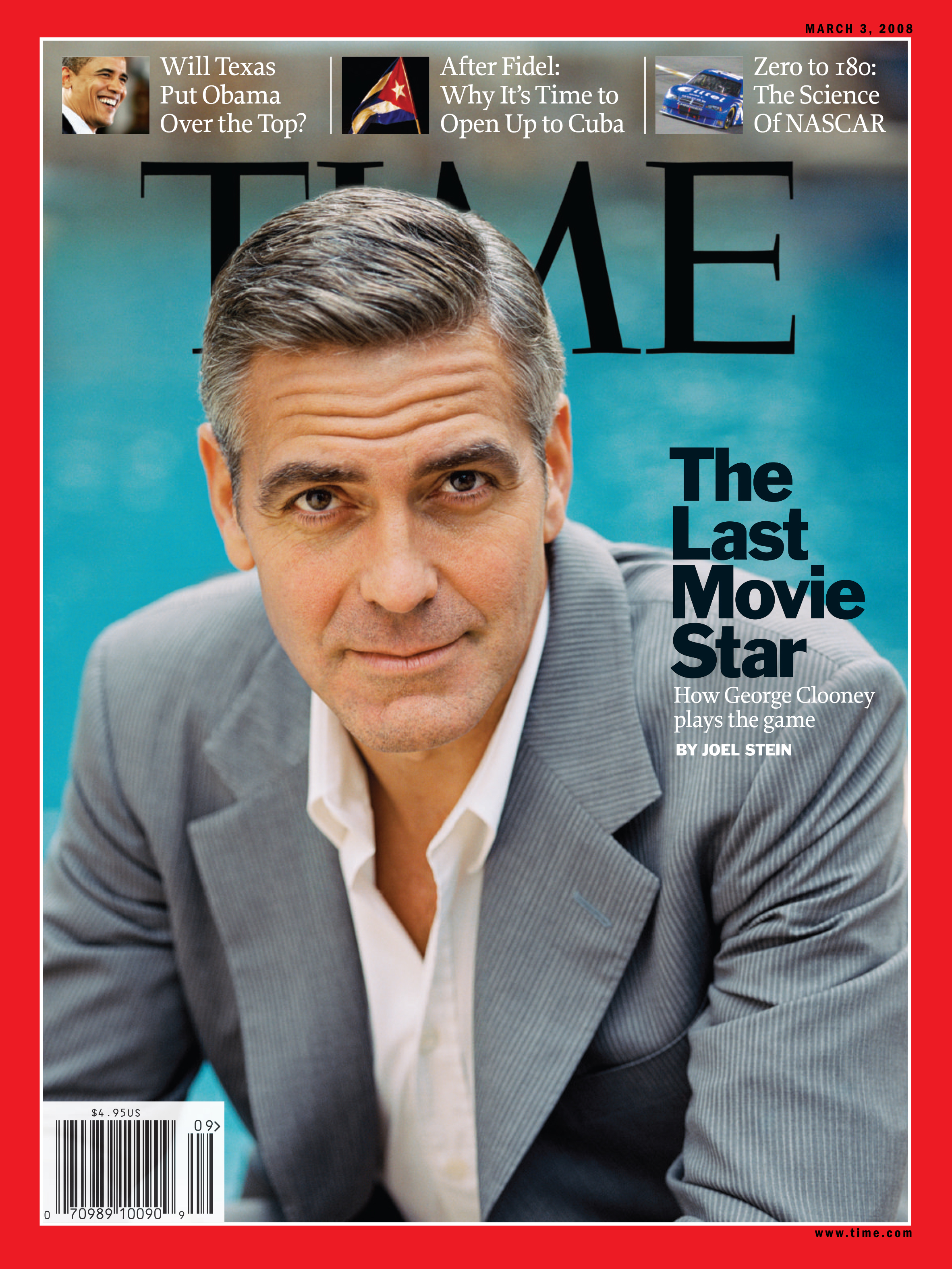 Clooney was on the cover of TIME Magazine in 2008.