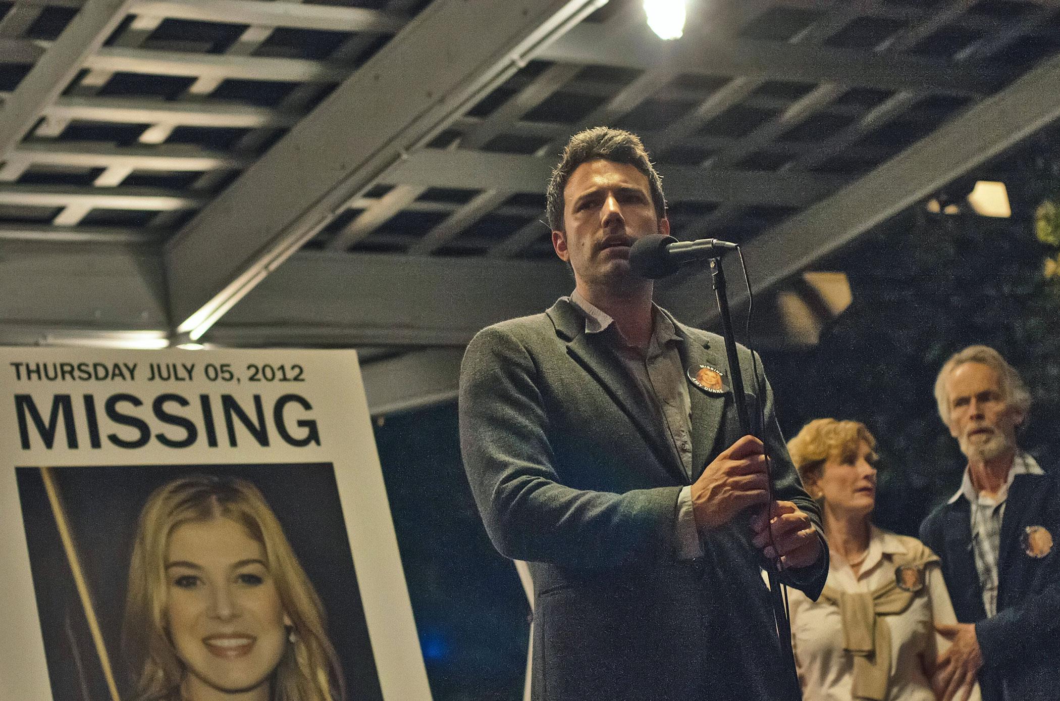 Ben Affleck plays Nick Dunne in Gone Girl