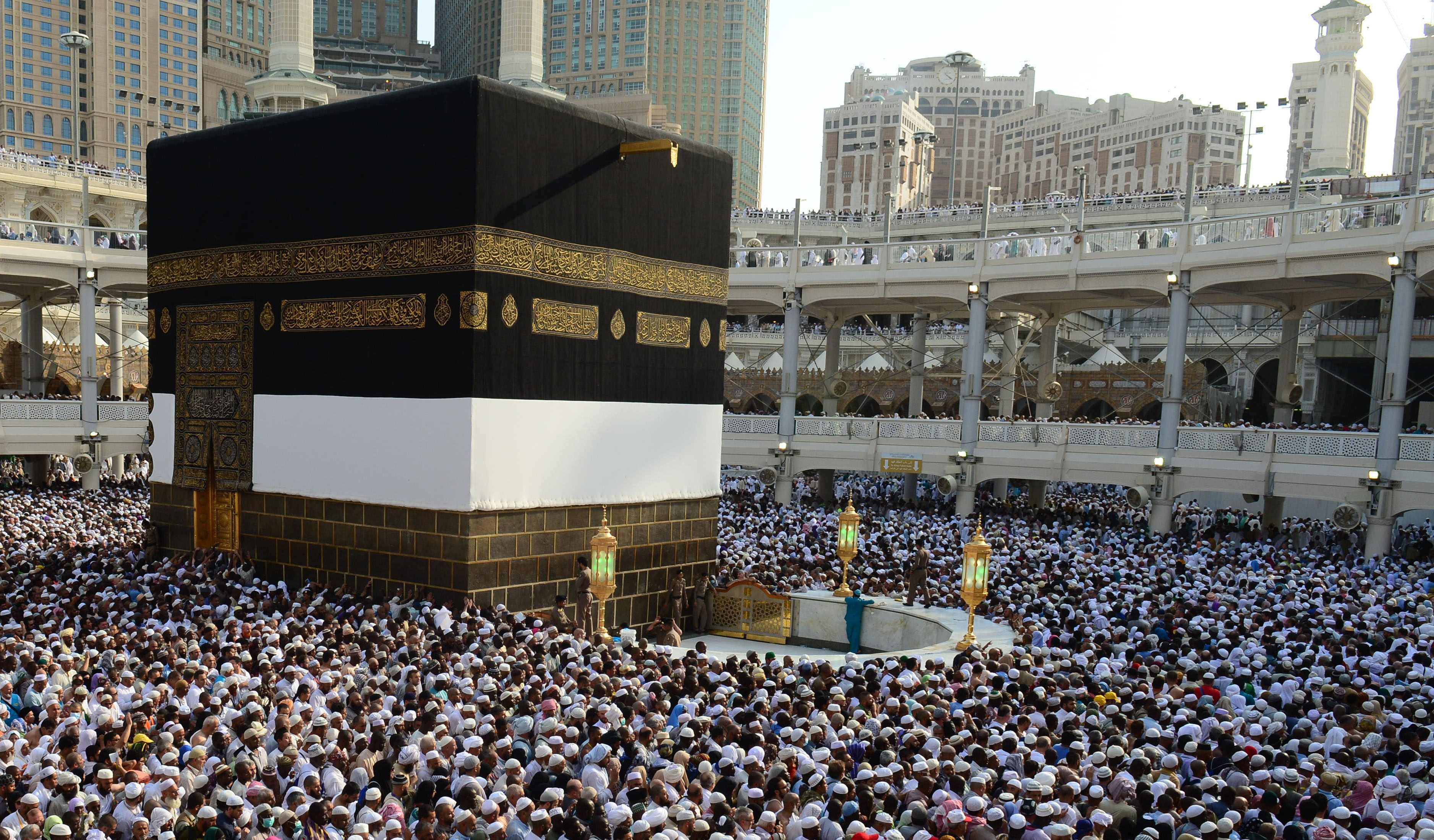 Muslim pilgrims from all around the world circle counterclockwise Islam's holiest shrine, the Kaaba, ahead of upcoming Eid Al-Adha (Feast of Sacrifice) at Masjid al-Haram (the Grand Mosque) in the Muslim holy city of Mecca, Saudi Arabia on September 30, 2014.