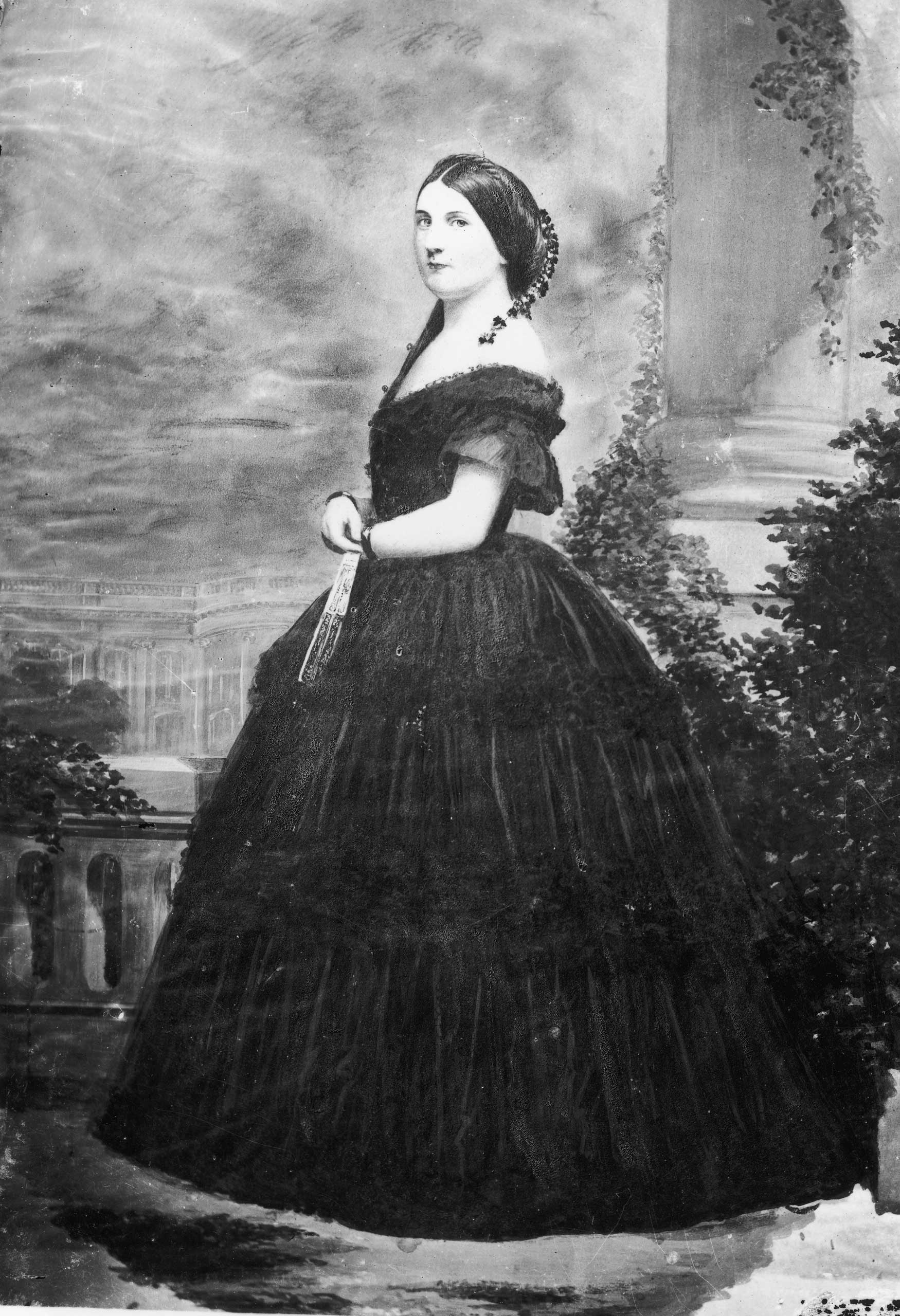 Portrait of Harriet Lane, circa 1860s. Harriet Lane was the first  acting First Lady  to her uncle, life-long bachelor, President James Buchanan.