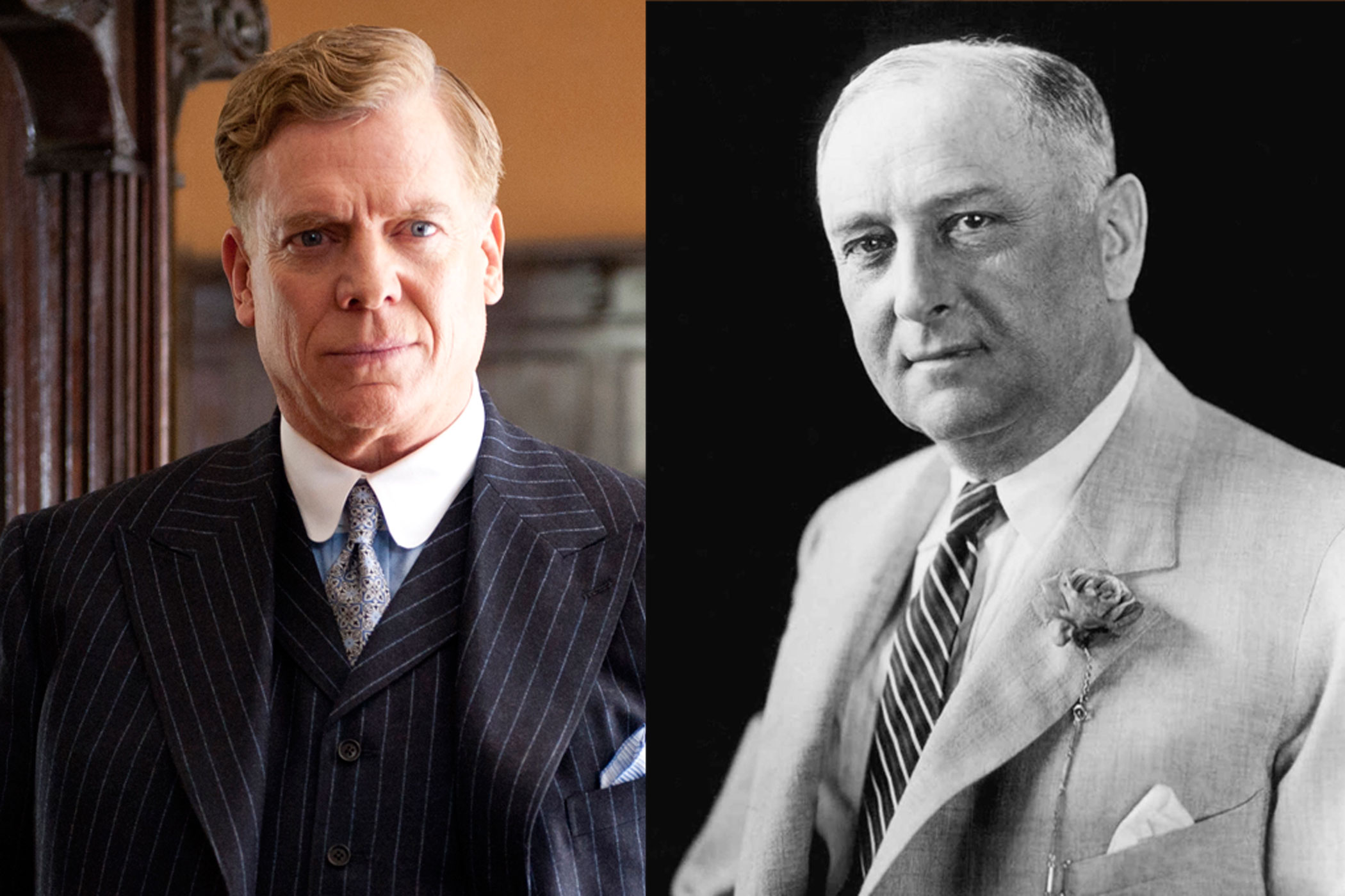 Harry M. Daugherty:                                Christopher McDonald's Harry Daugherty is a pretty good approximation of the real life U.S. Attorney General of the same name, who was indicted, but never jailed, on federal charges of fraud.