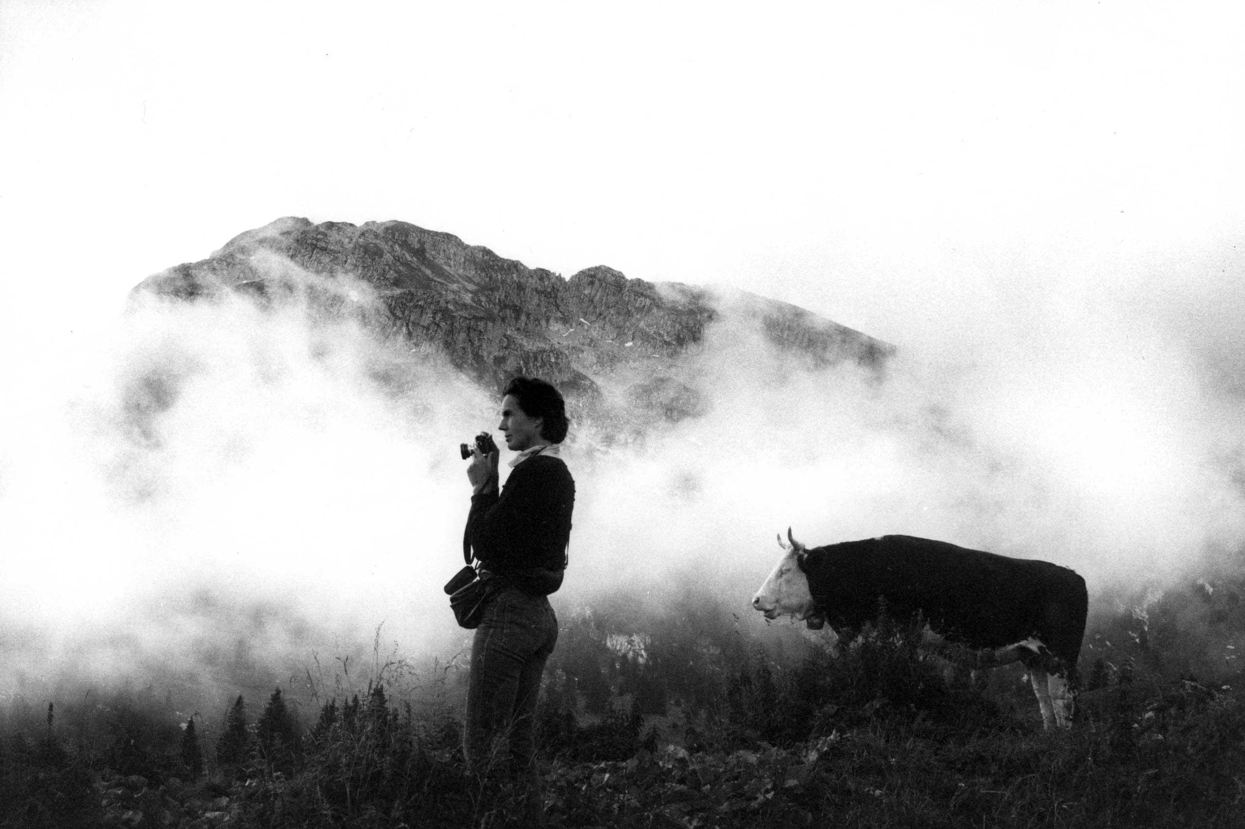 Martine Franck in Switzerland in 1984.