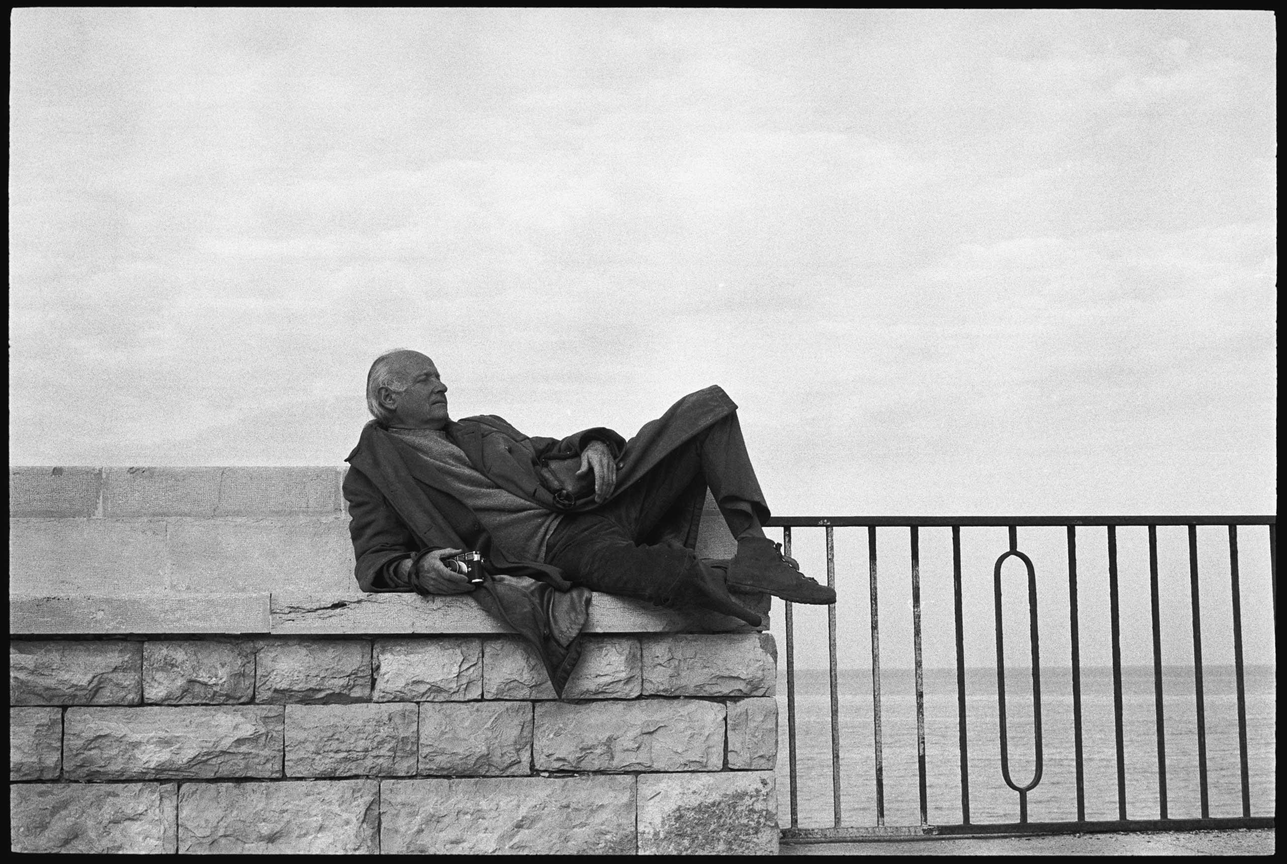 Henri Cartier-Bresson in Italy in 1971.