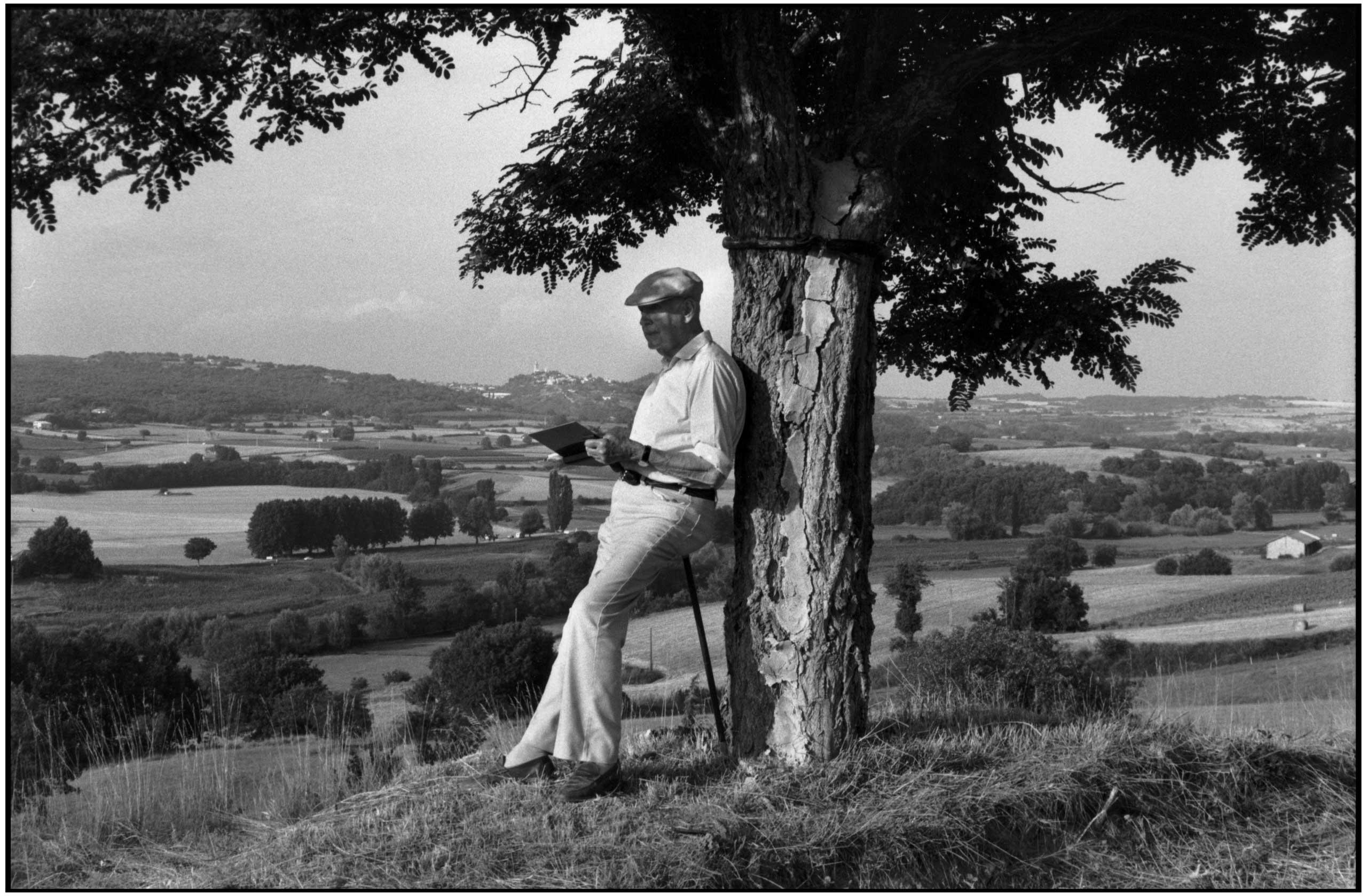 Henri Cartier-Bresson in Provence-Alpes-C™te d'Azur region, 1995.
