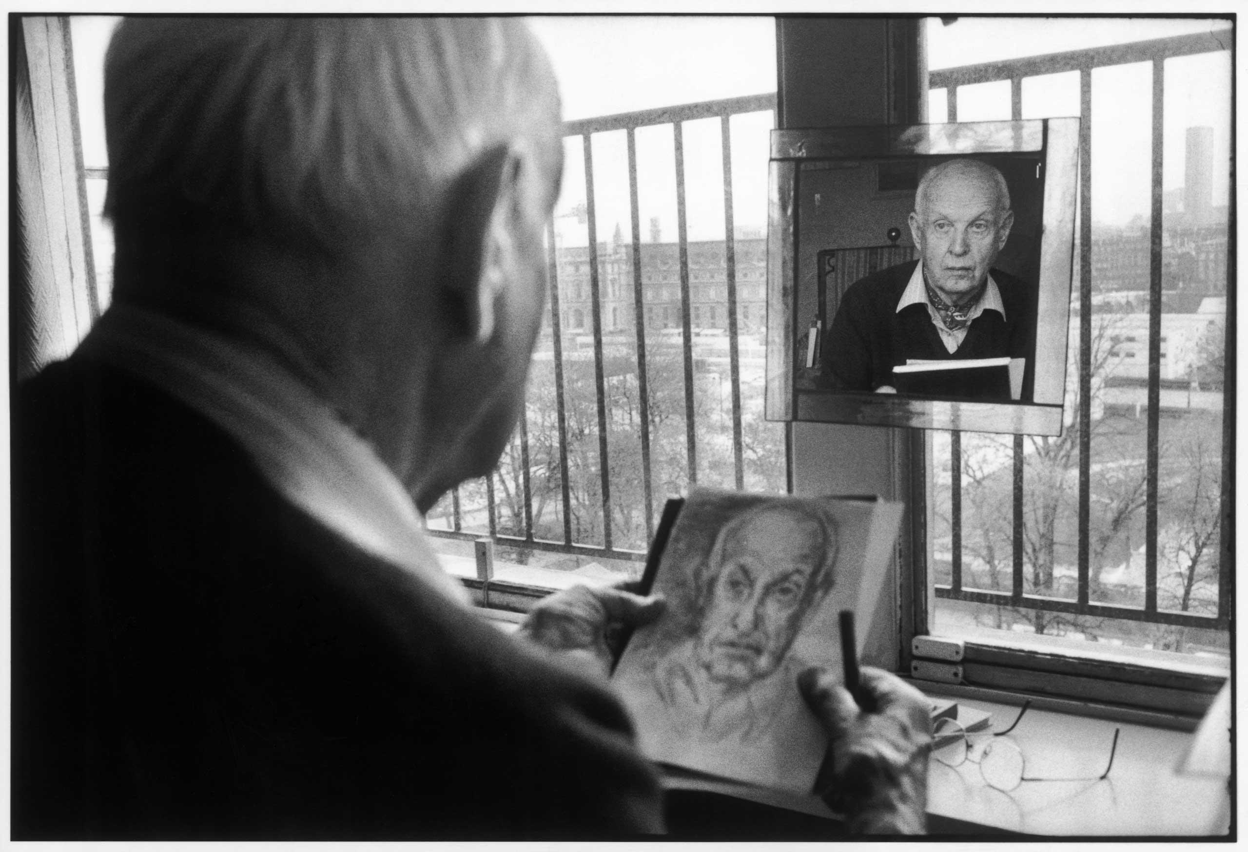 Henri Cartier-Bresson in Paris, 1992.
