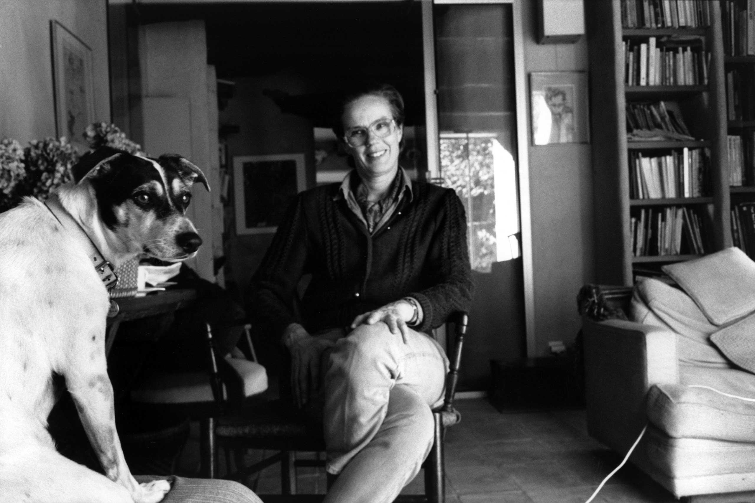 Martine Franck at home in France, 1994.